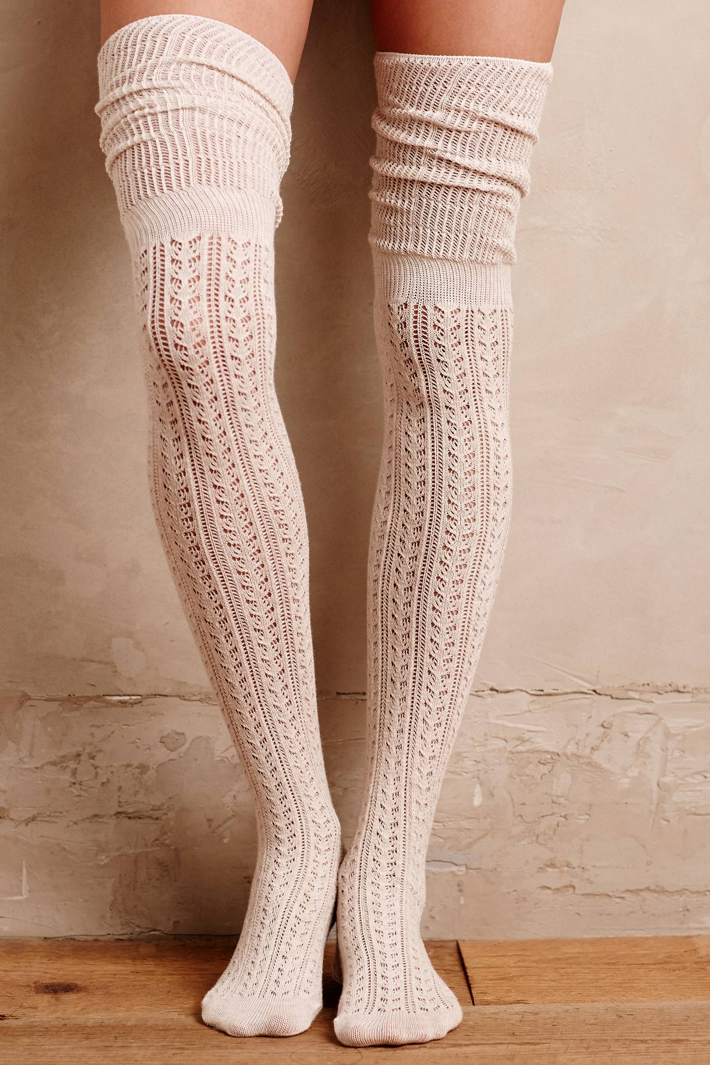 Openwork Over-The-Knee Socks