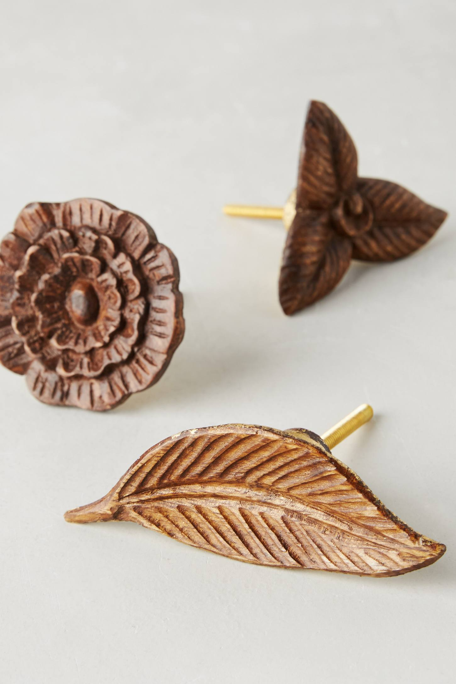 Metallic Flora Knob