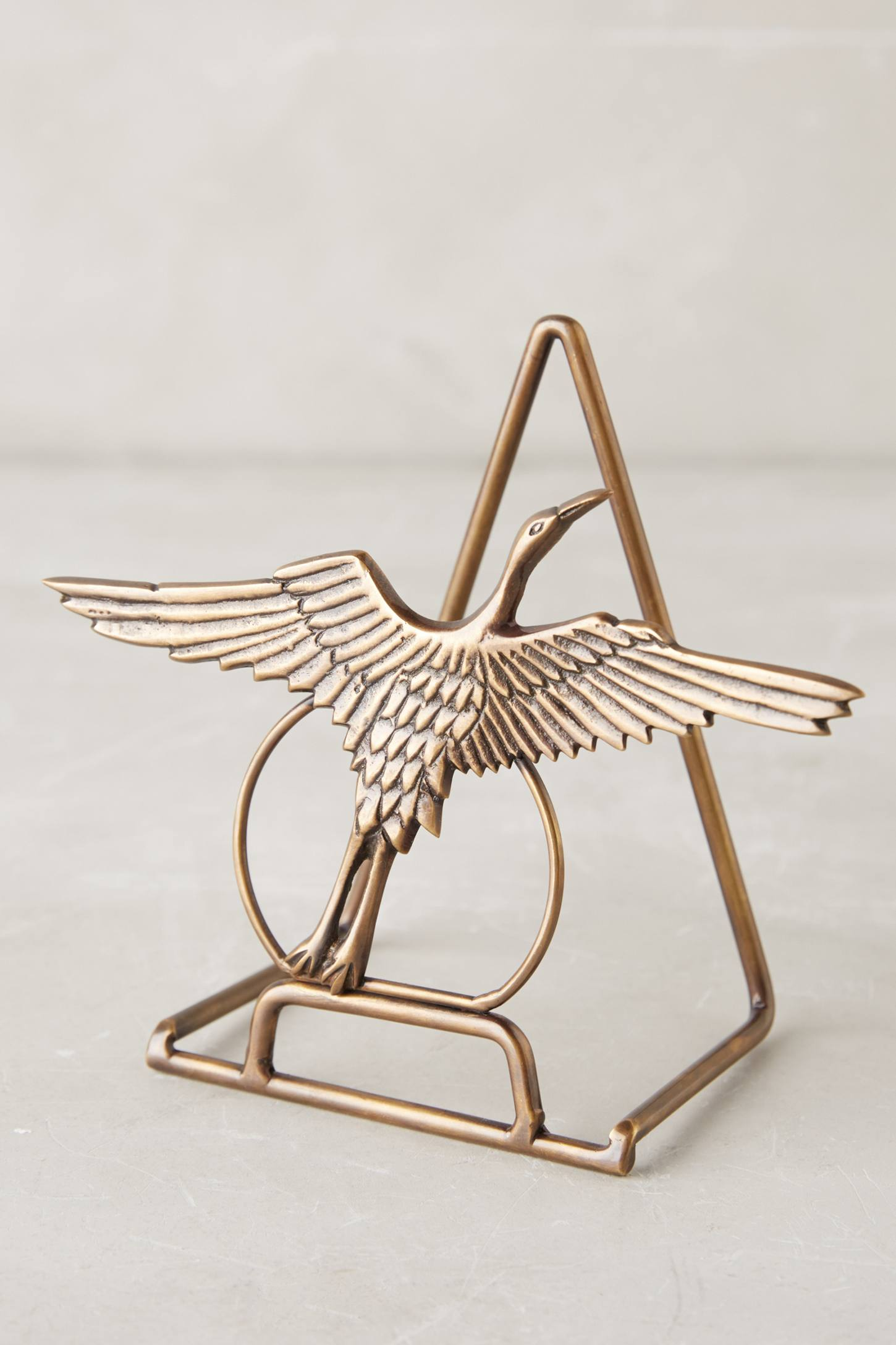 Gilded Crane Plate Stand