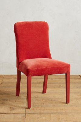 Velvet & Lacquer Dining Chair