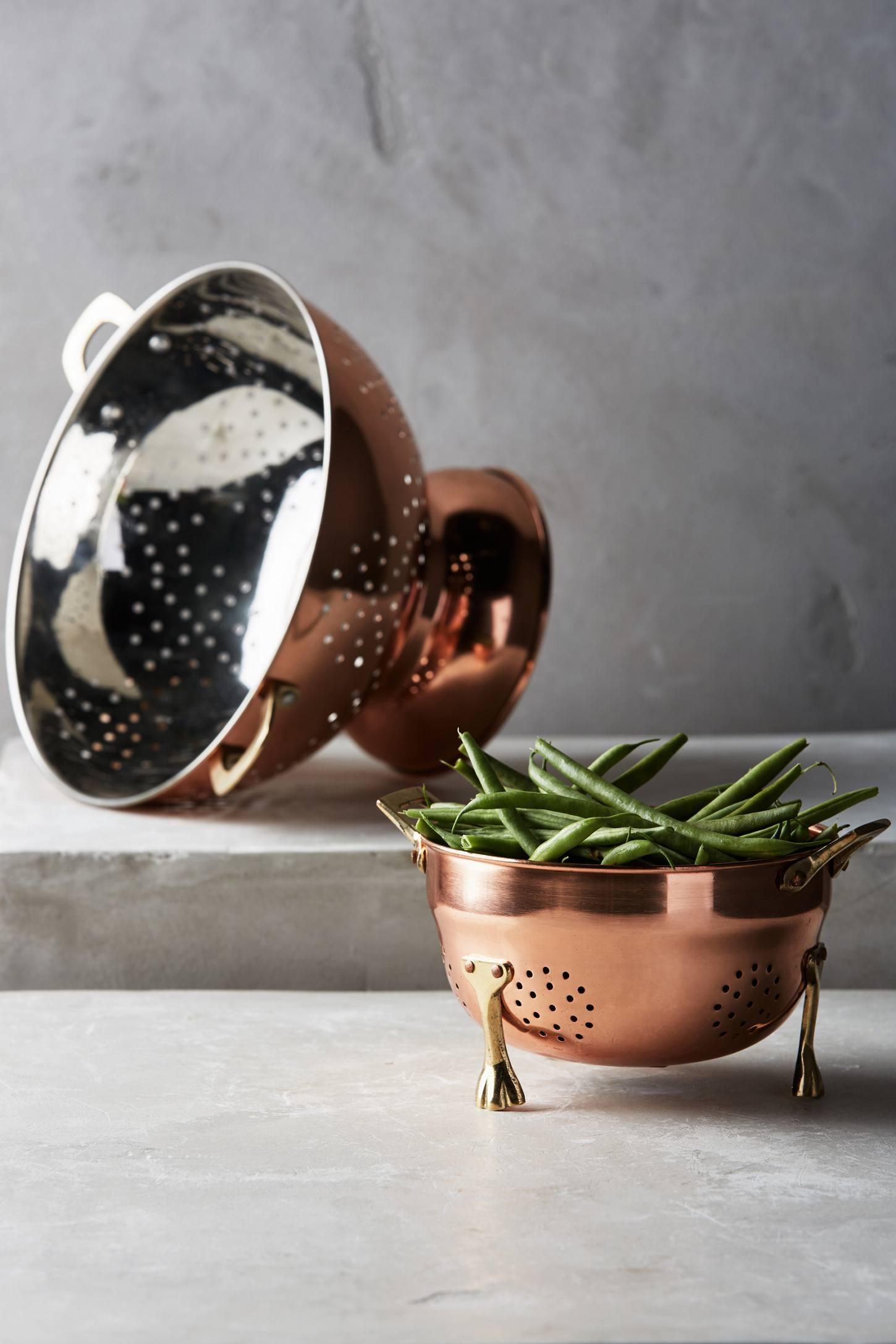 Copper-Plated Colander