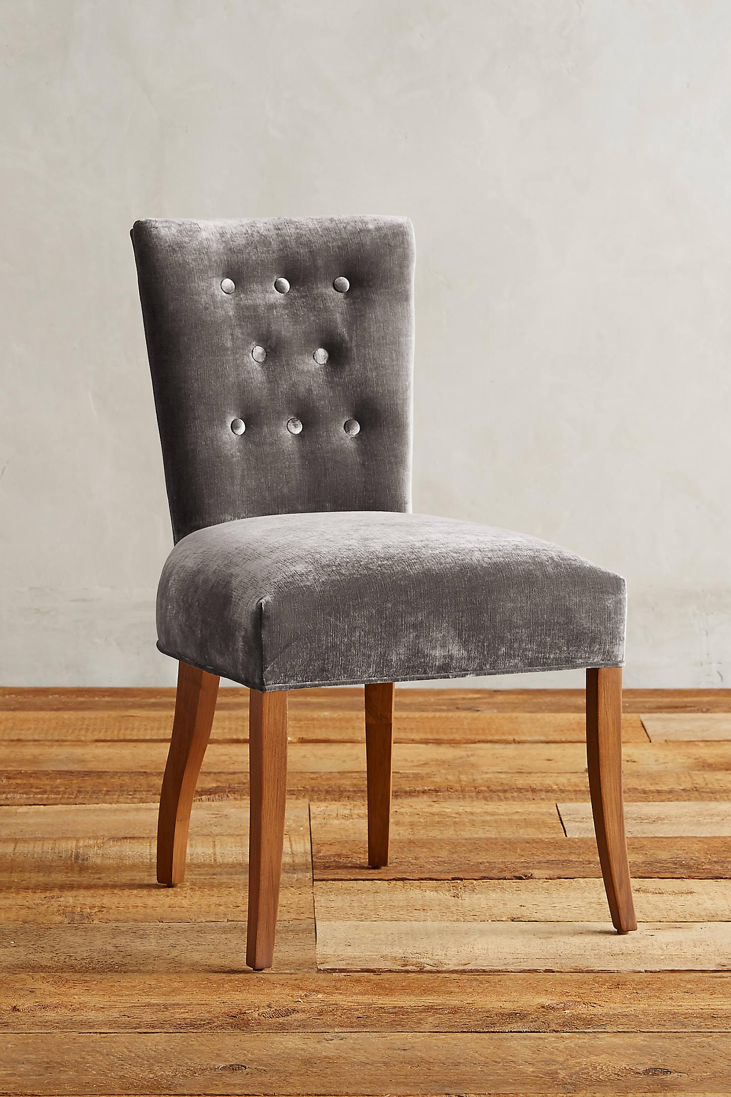 Slub Velvet Abner Dining Chair