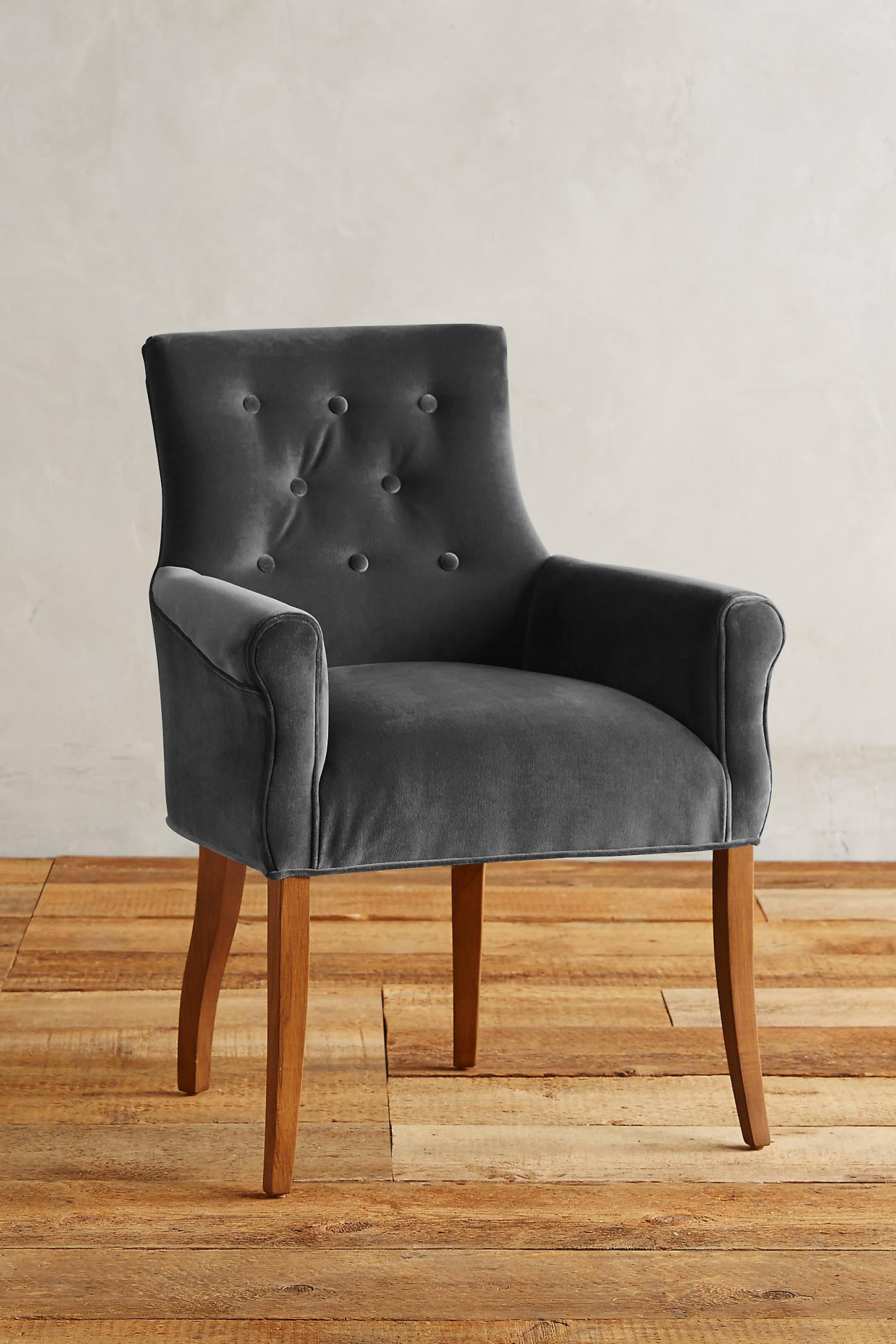 Velvet Abner Armchair