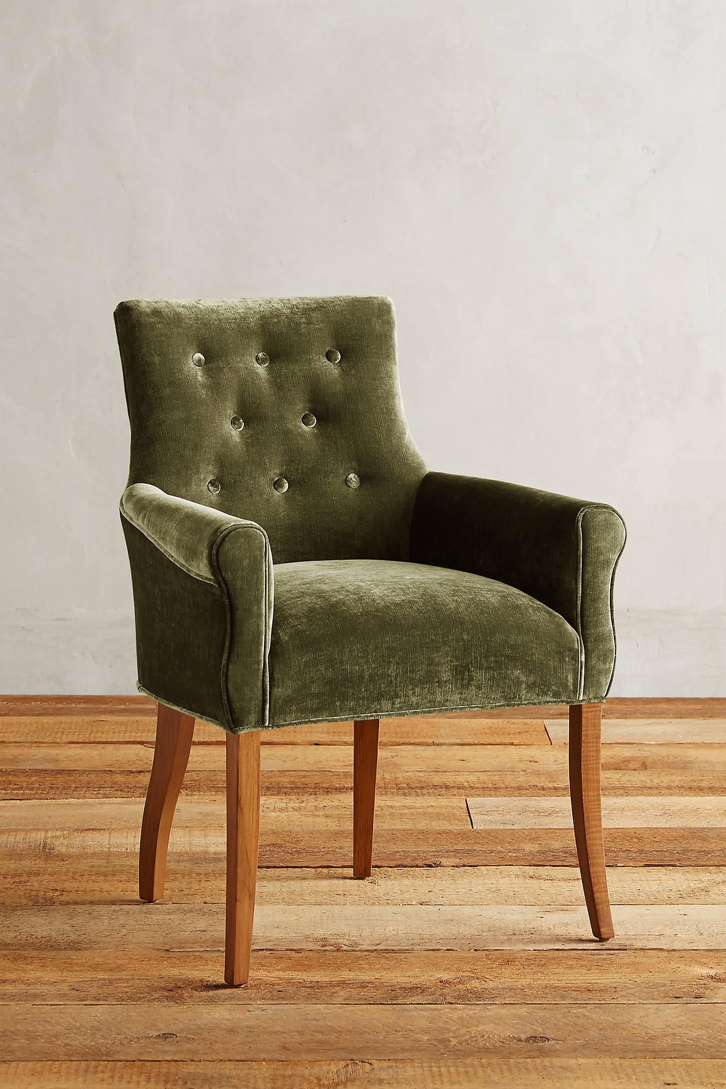 Slub Velvet Abner Armchair