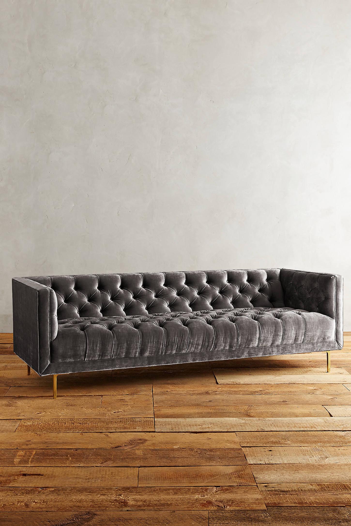 Slub Velvet Mina Sofa