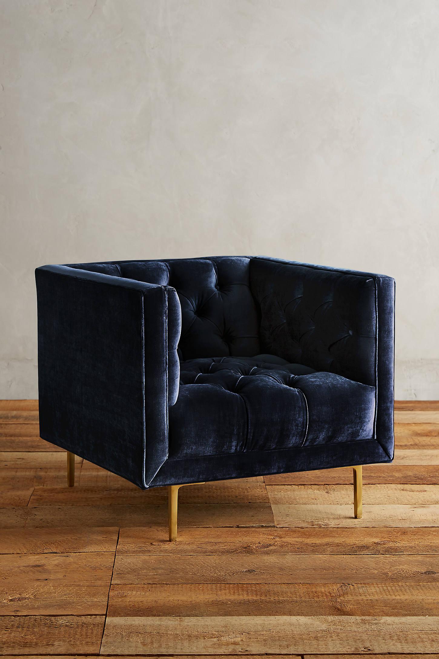 Slub Velvet Mina Chair