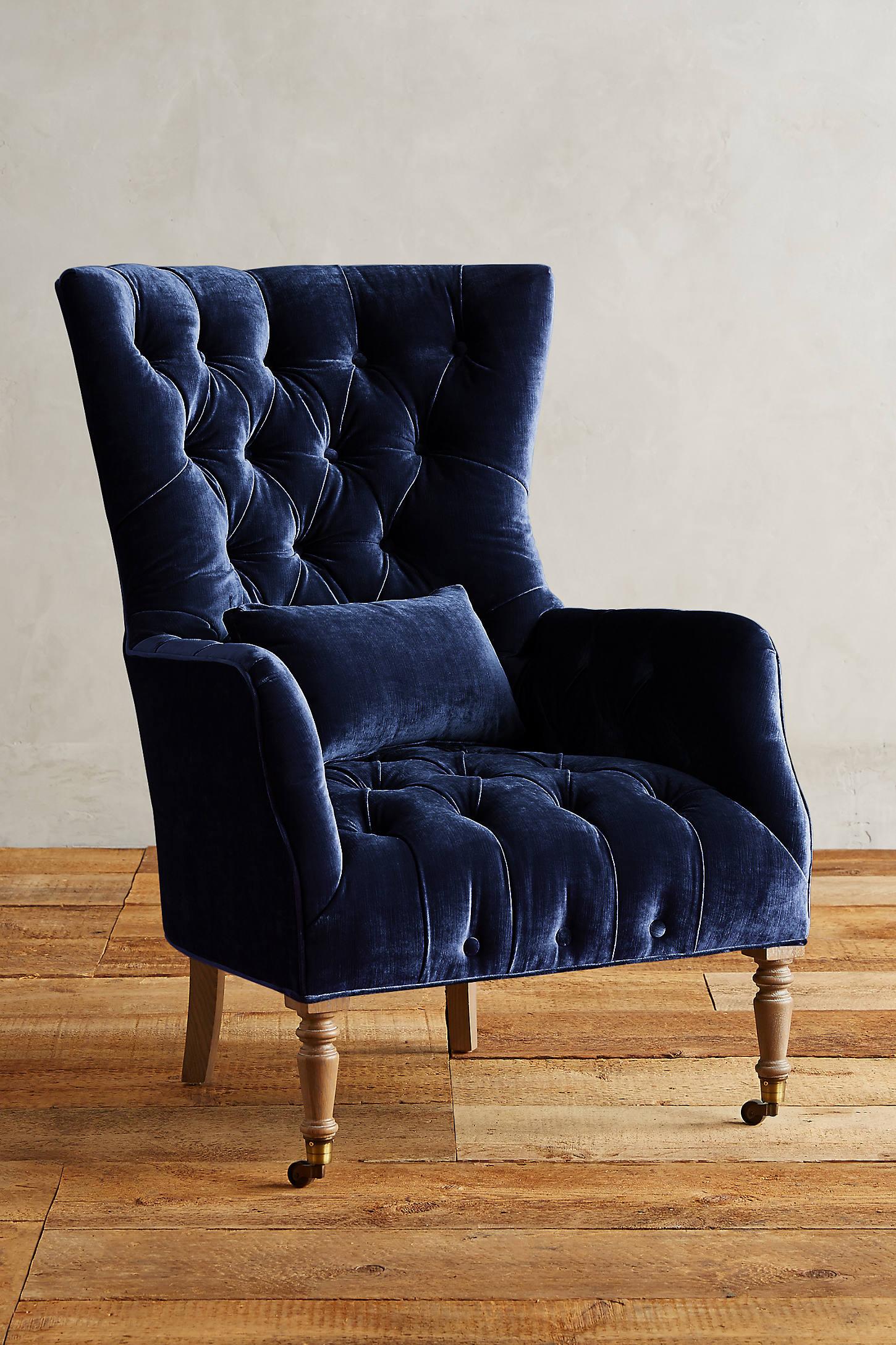 Slub Velvet Julienne Chair