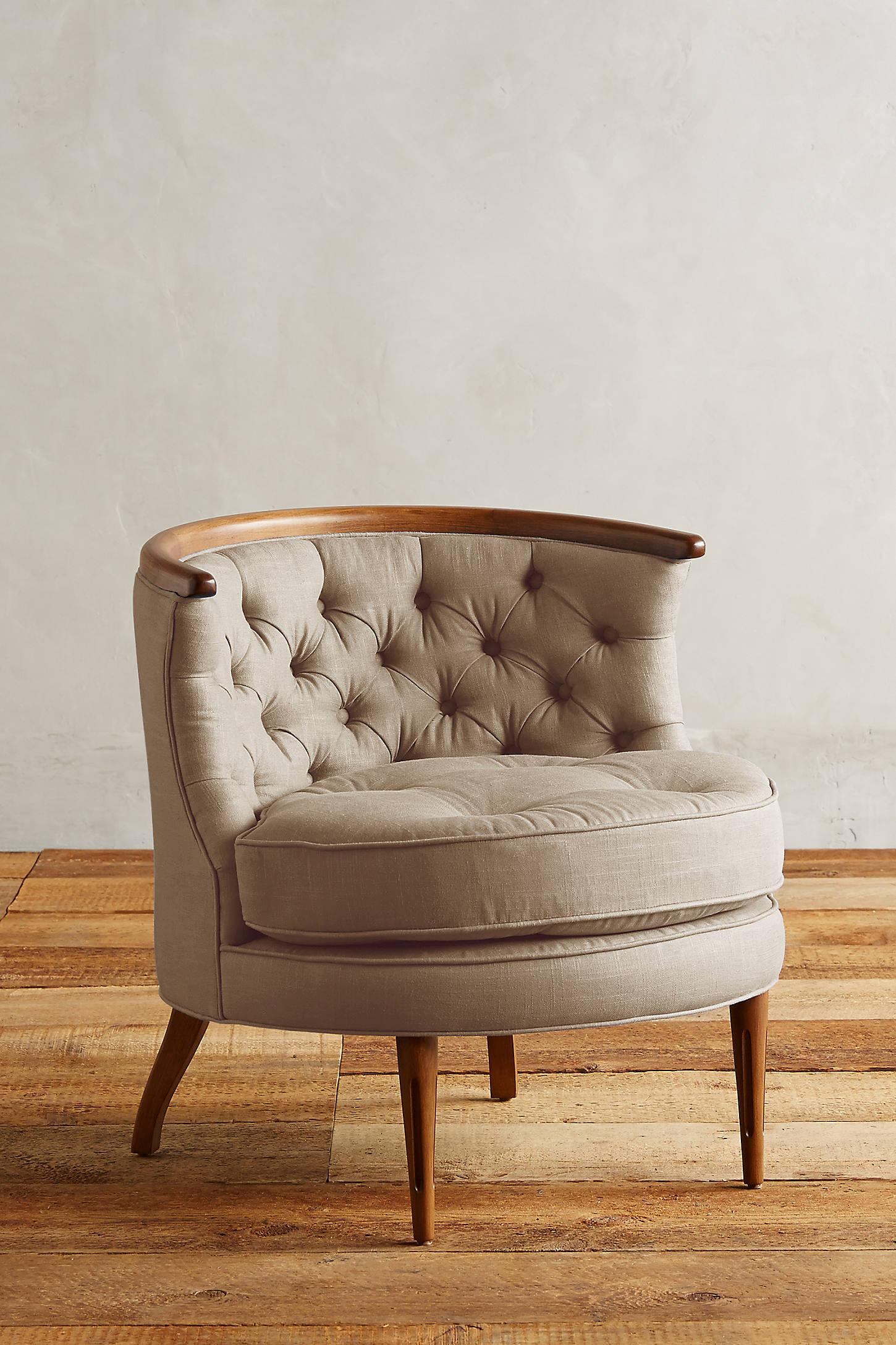 Linen Bixby Chair