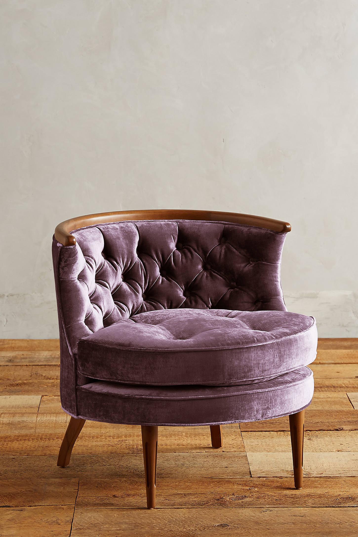 Slub Velvet Bixby Chair