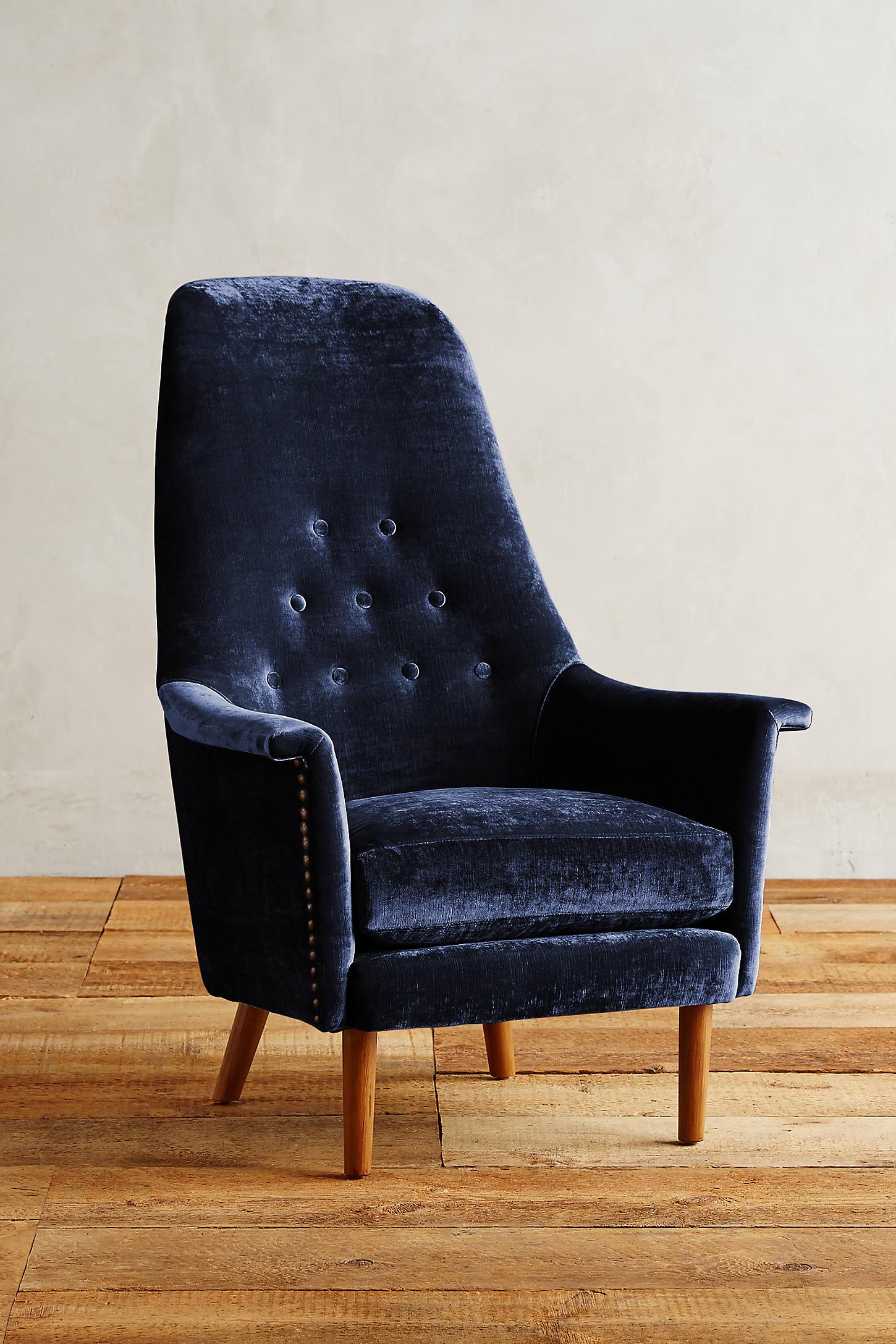 Slub Velvet Alistair Chair
