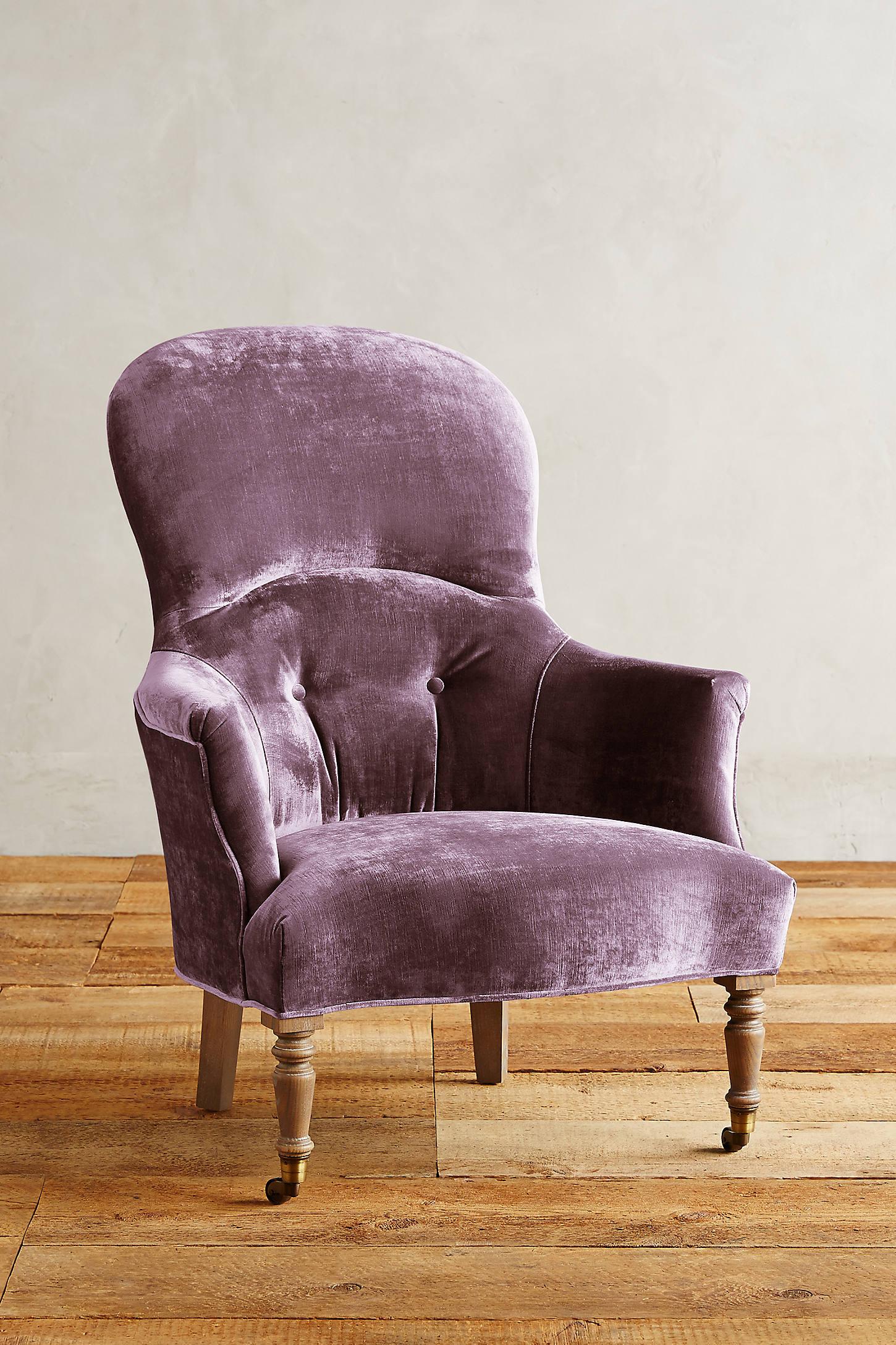 Slub Velvet Parker Armchair
