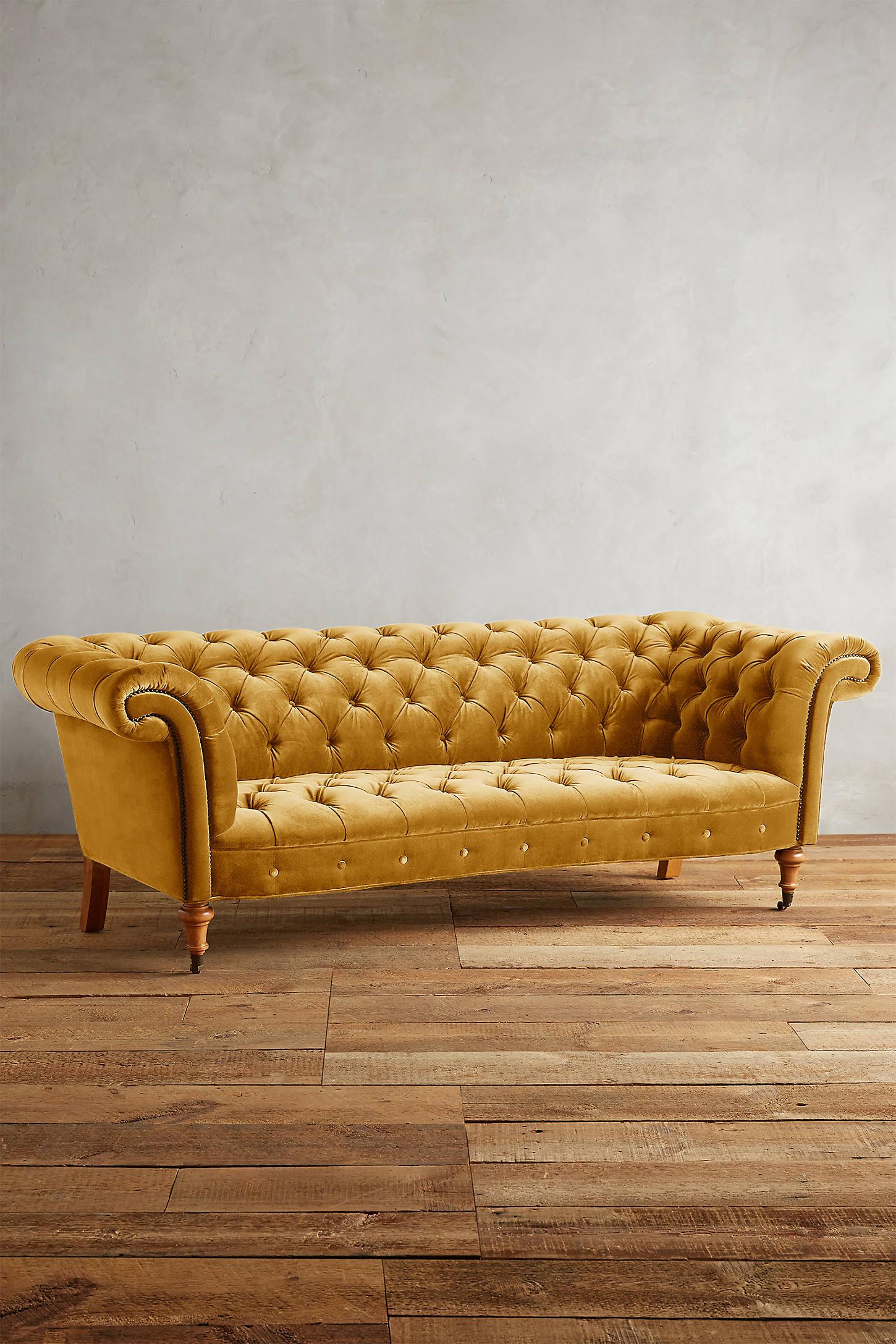 Velvet Olivette Sofa