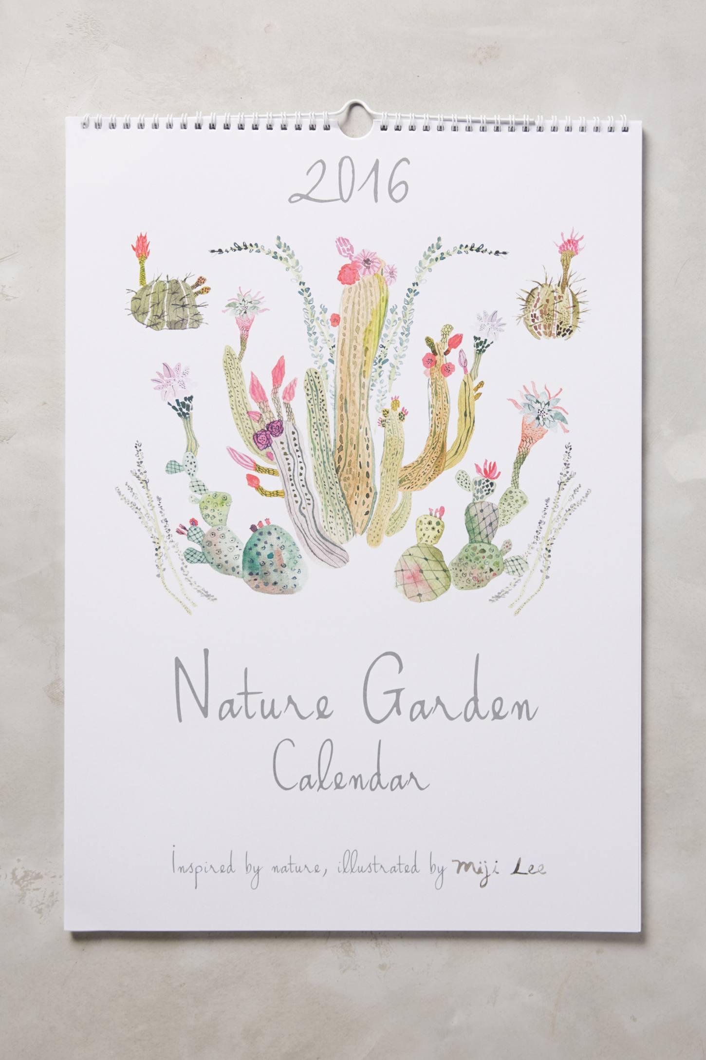 Nature Garden 2016 Calendar