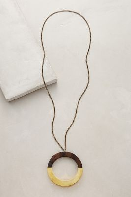 Holz Pendant Necklace