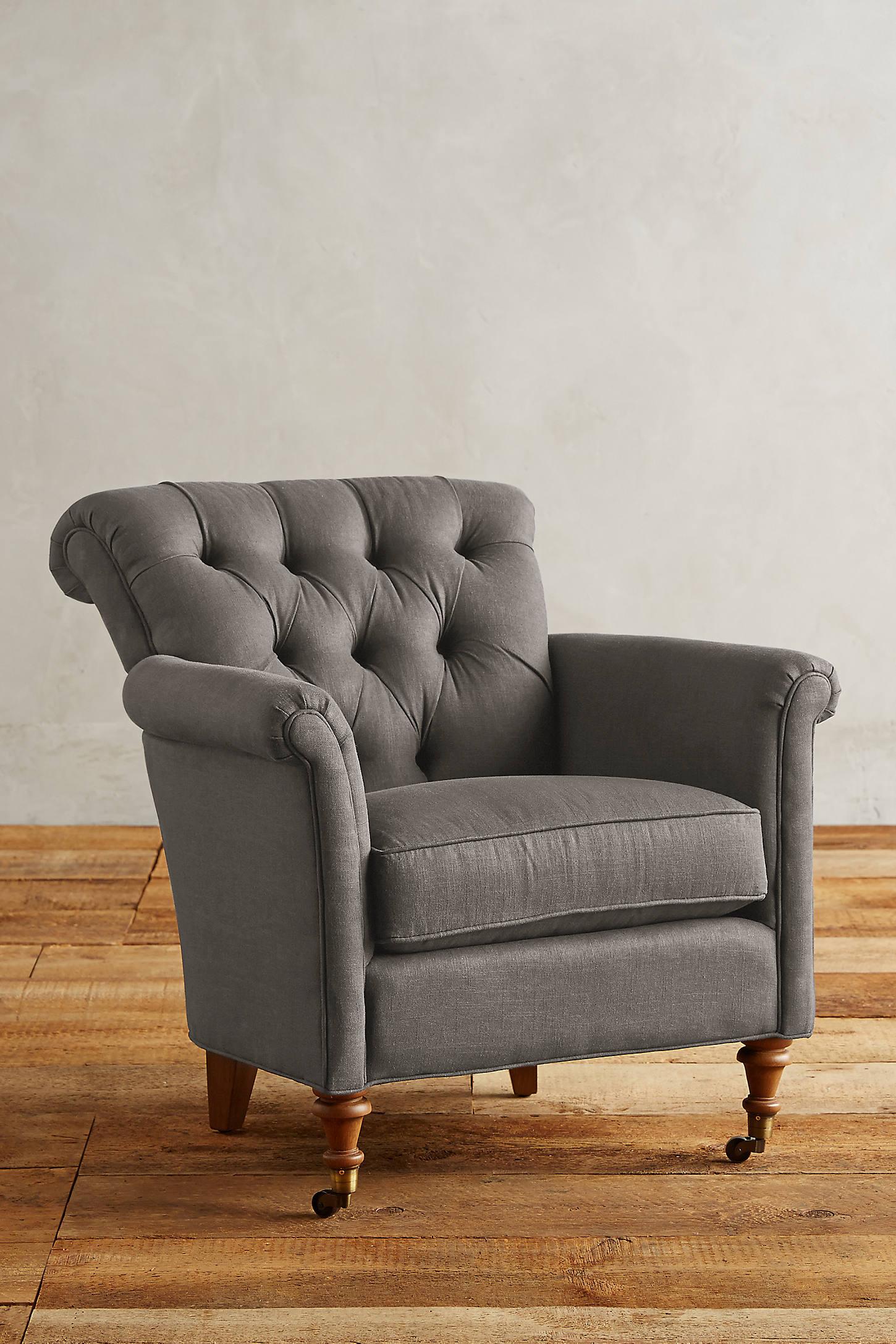 Linen Gwinnette Chair