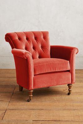 Velvet Gwinnette Chair