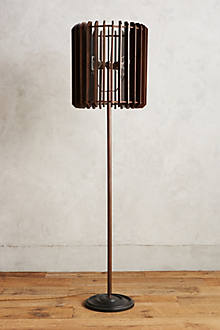 Slatted Woodchime Floor Lamp