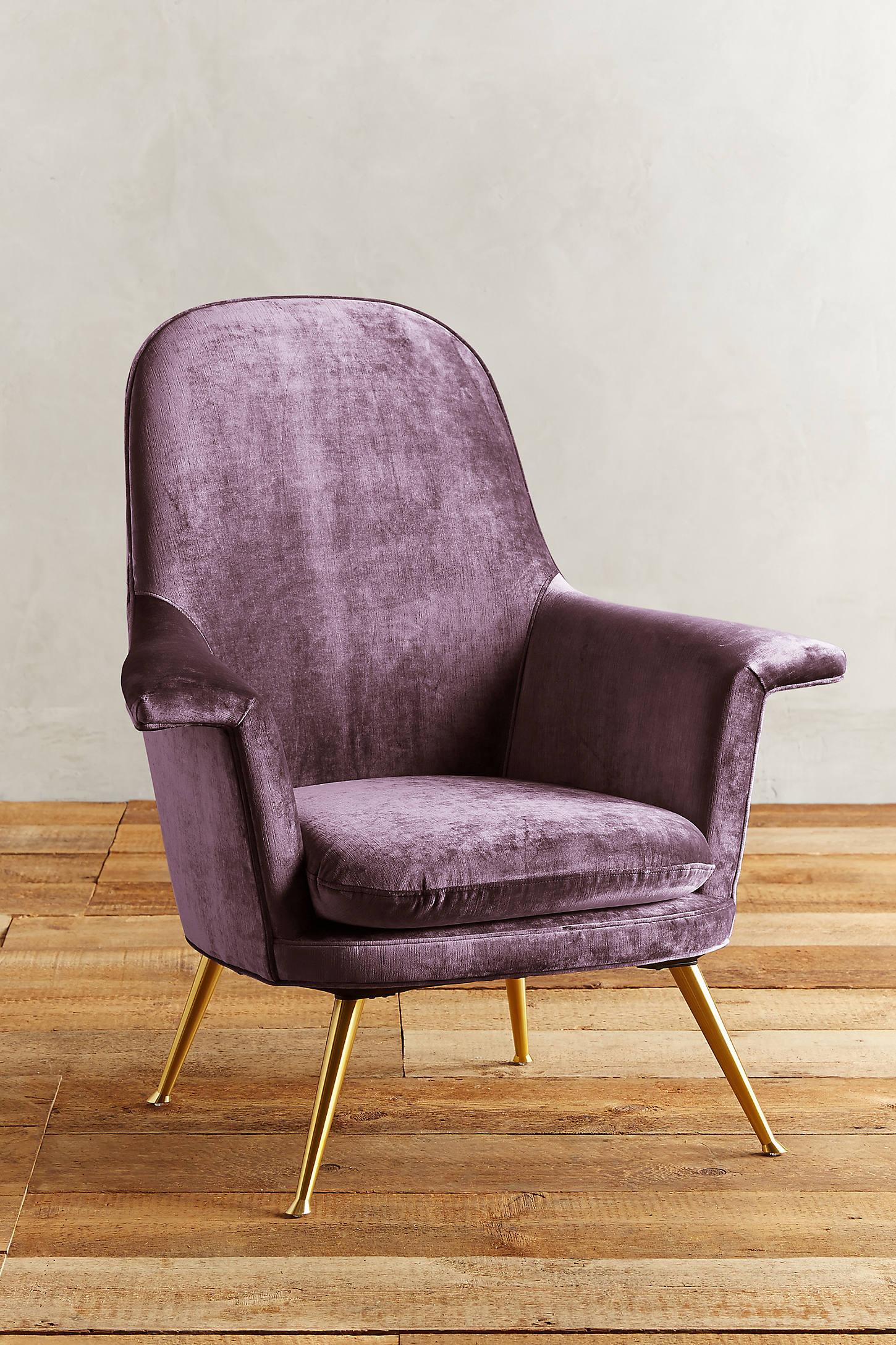 Slub Velvet Kimball Chair