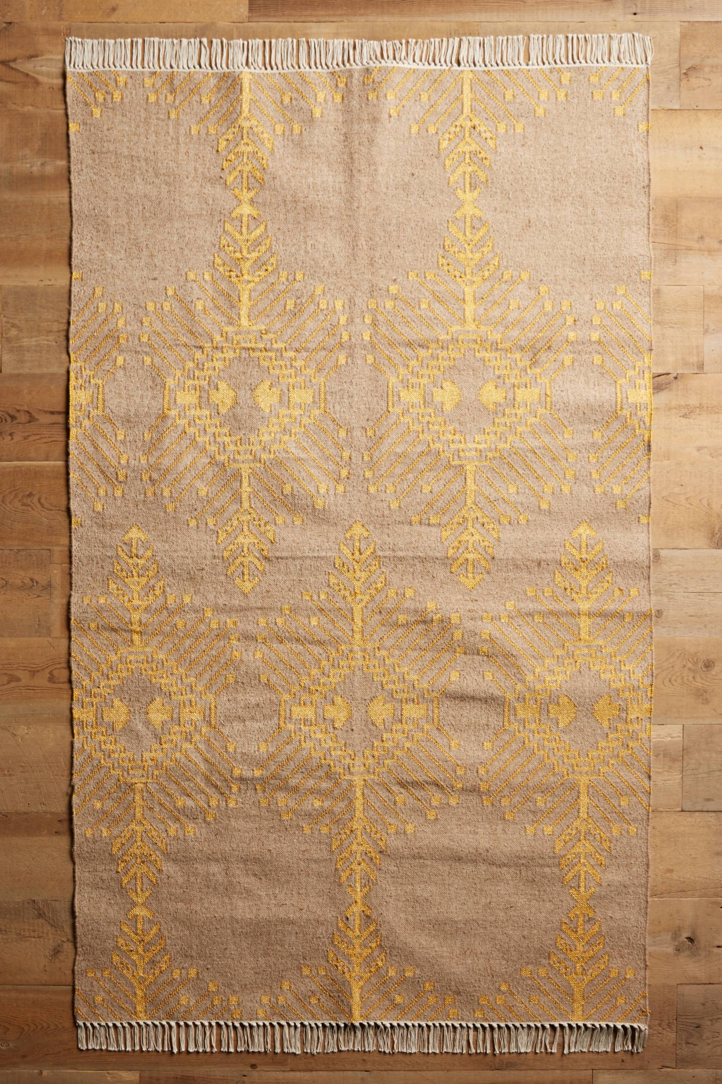 Gilt Stitch Flat-Woven Rug
