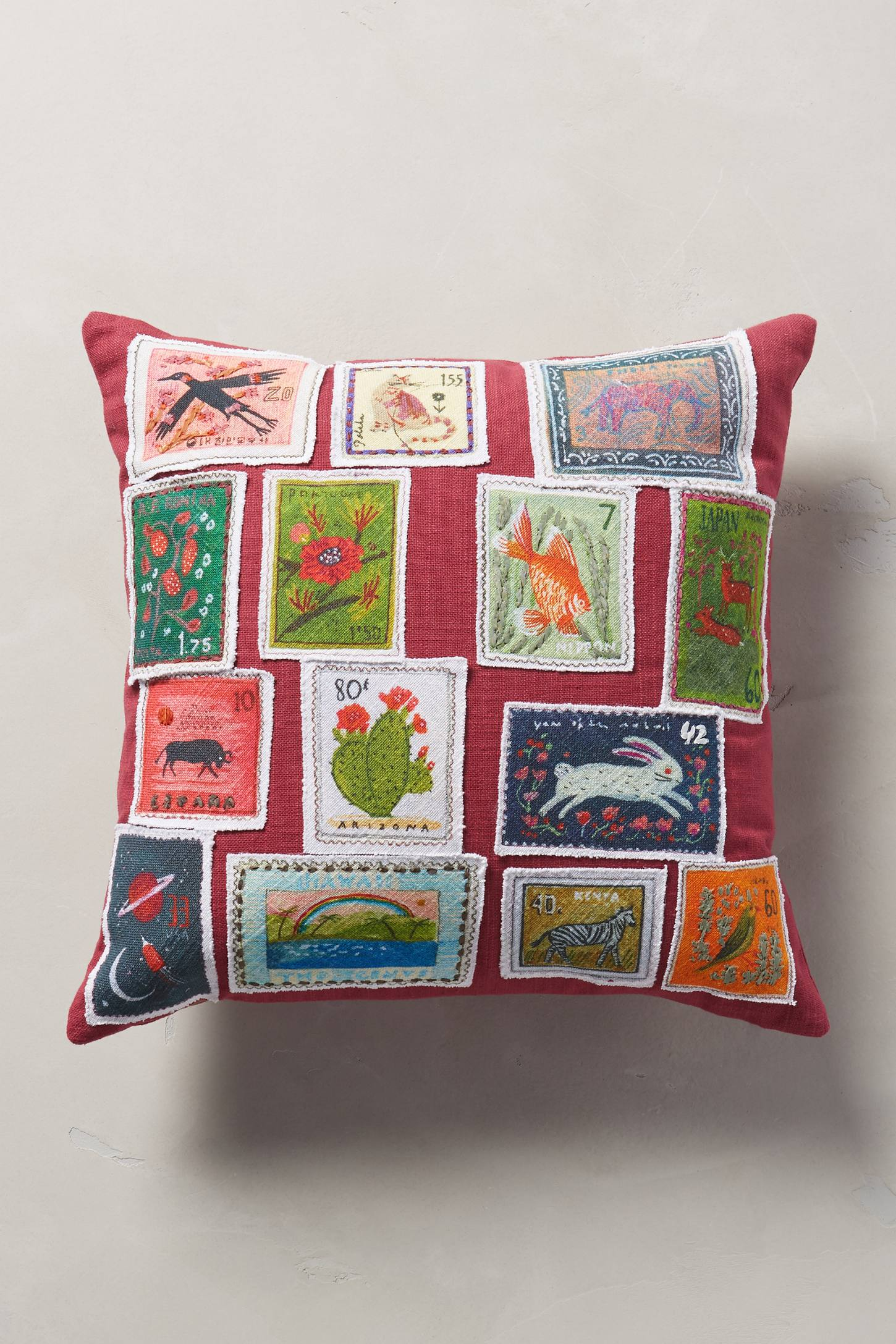 Stamped Curiosity Cushion