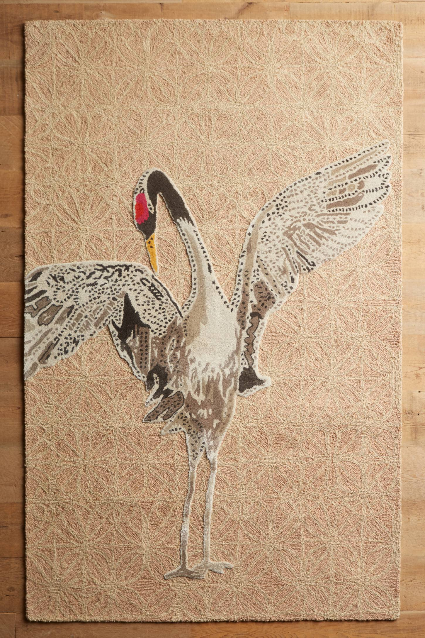 Whooping Crane Tufted Rug