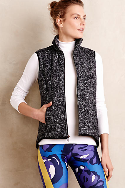 Love this vest for staying warm during workouts