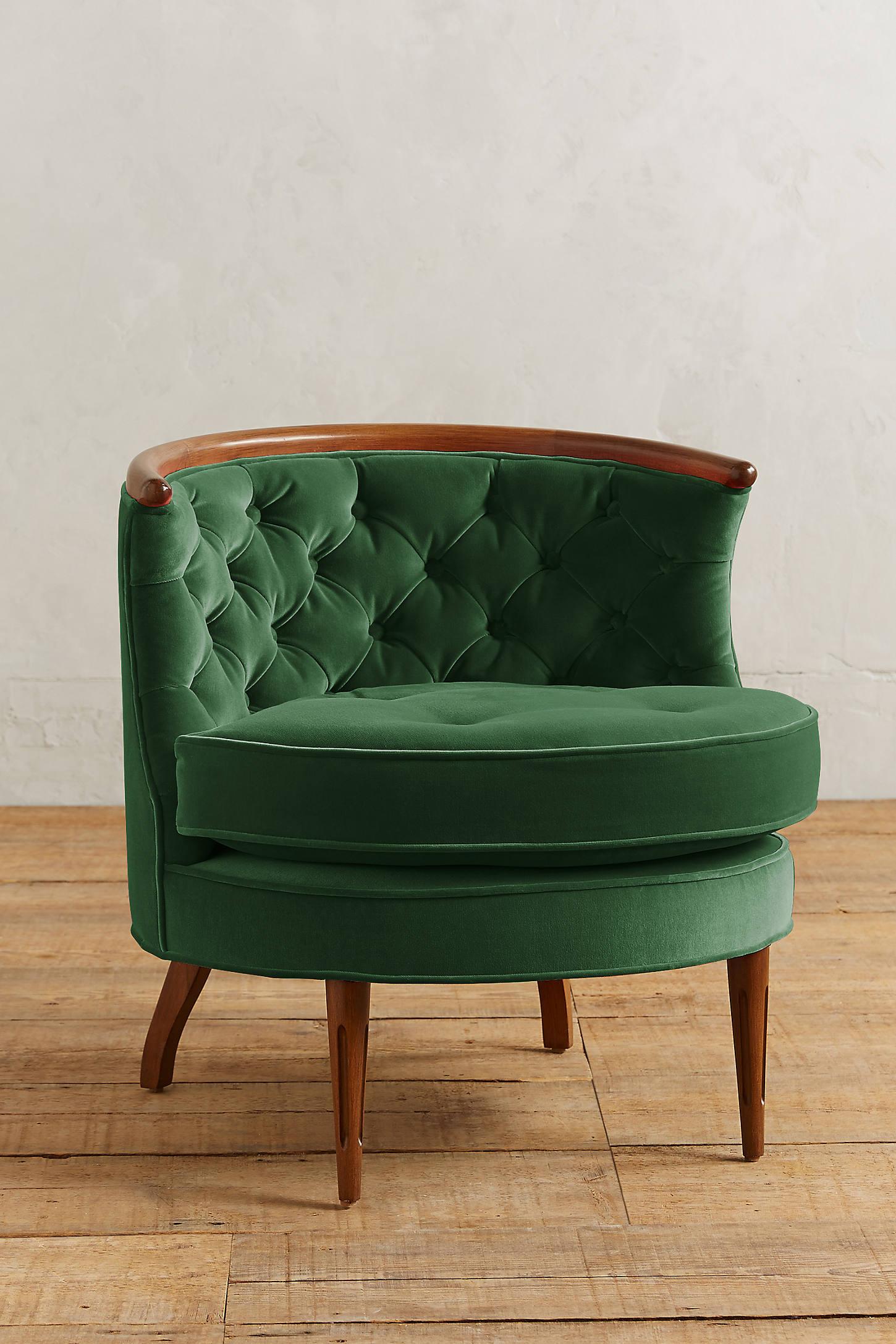 Velvet Bixby Chair