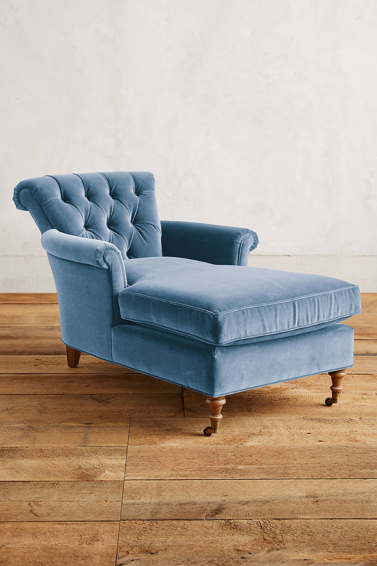 Velvet Gwinnette Chaise