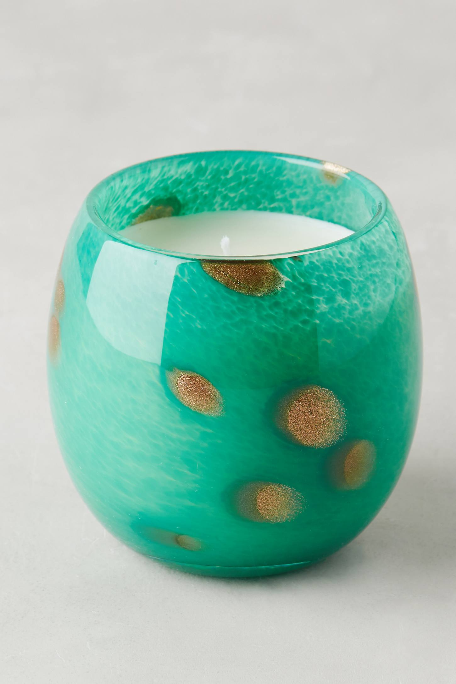 Swirling Glass Candle