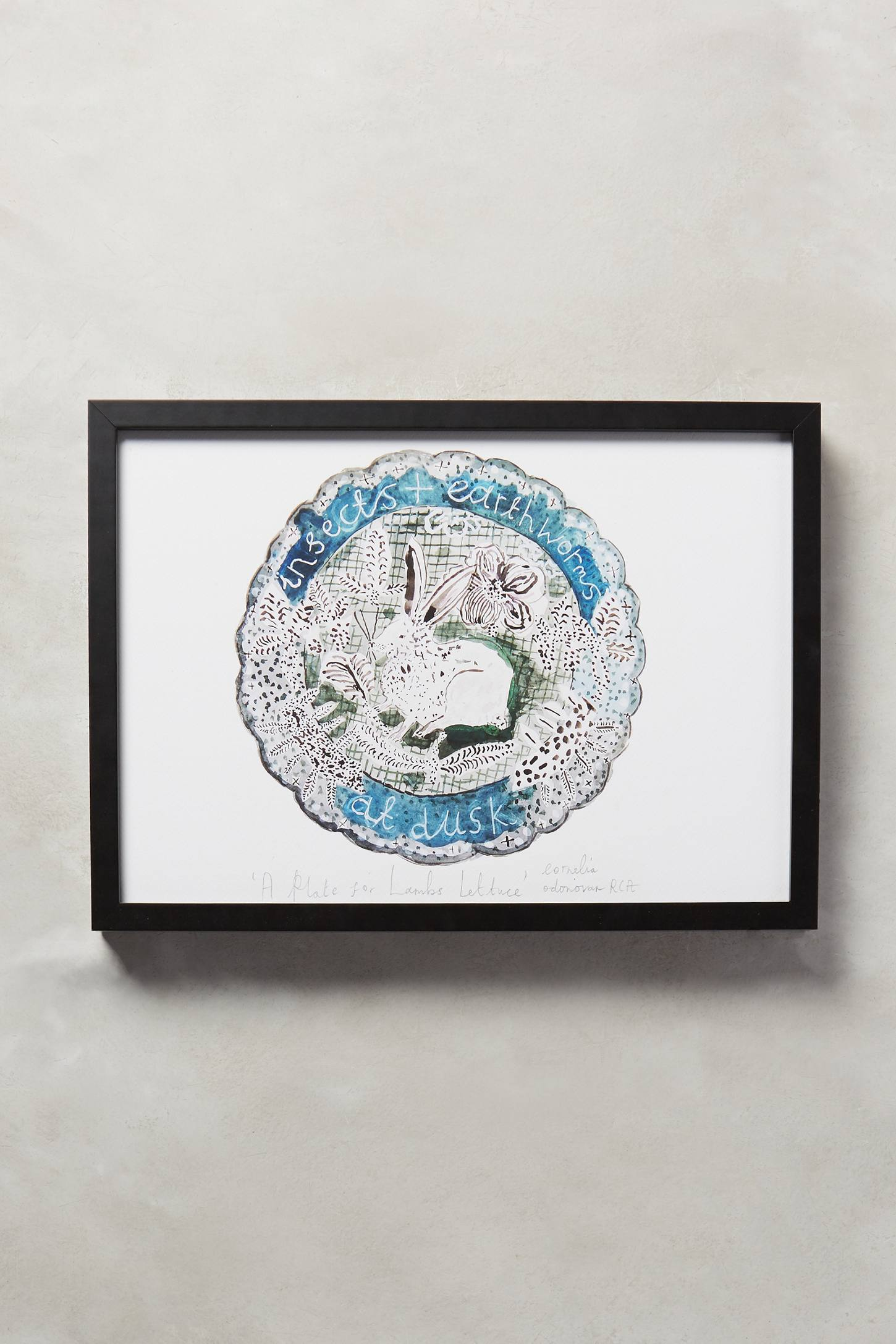 A Plate For Lamb's Lettuce Wall Art