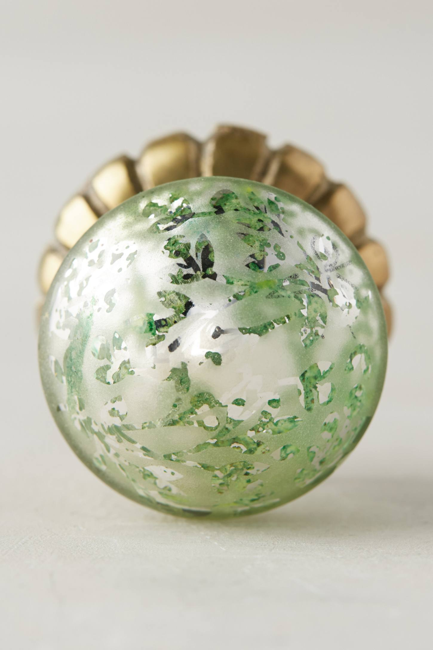 Mounted Mercury Glass Knob