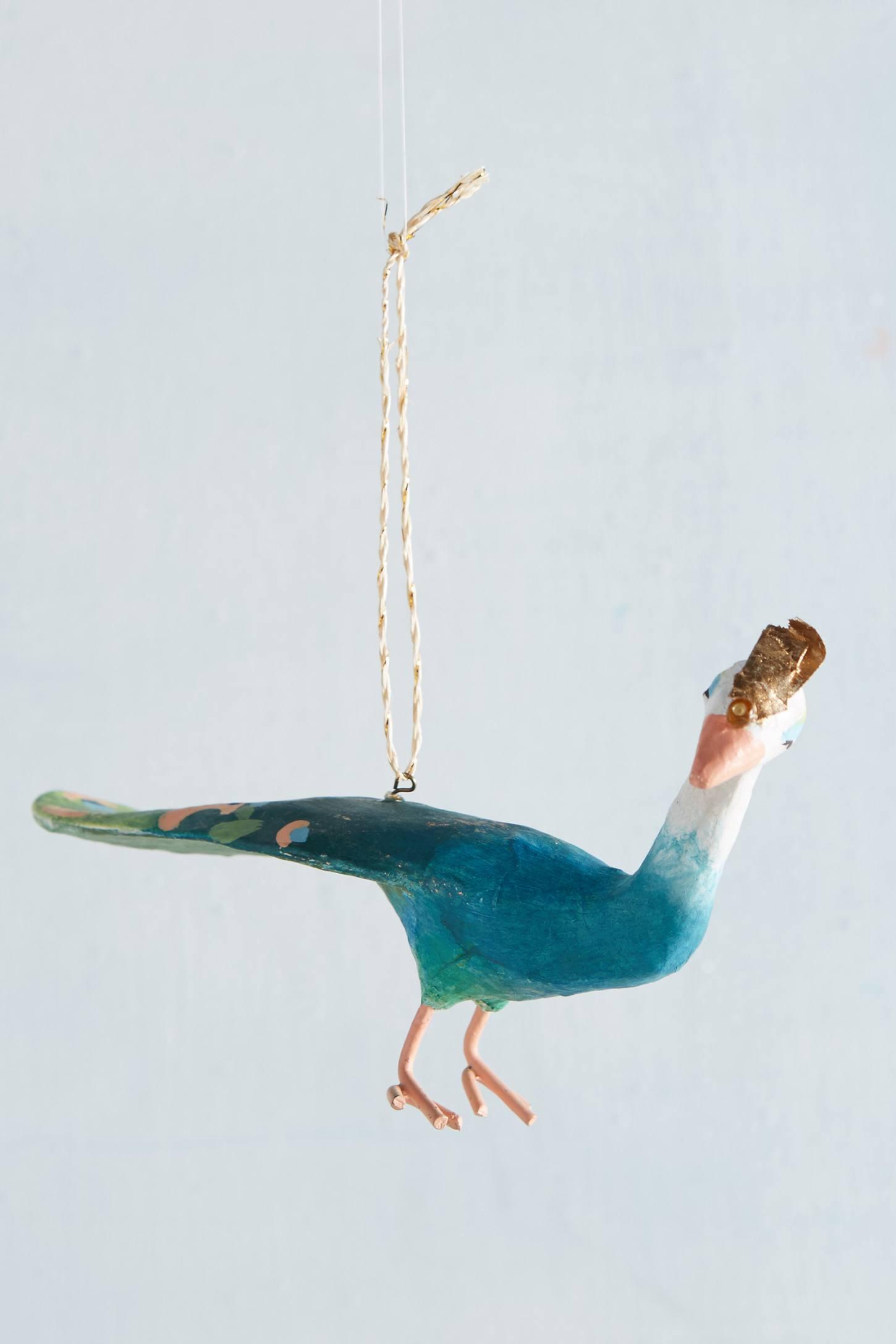 Proud Peacock Ornament