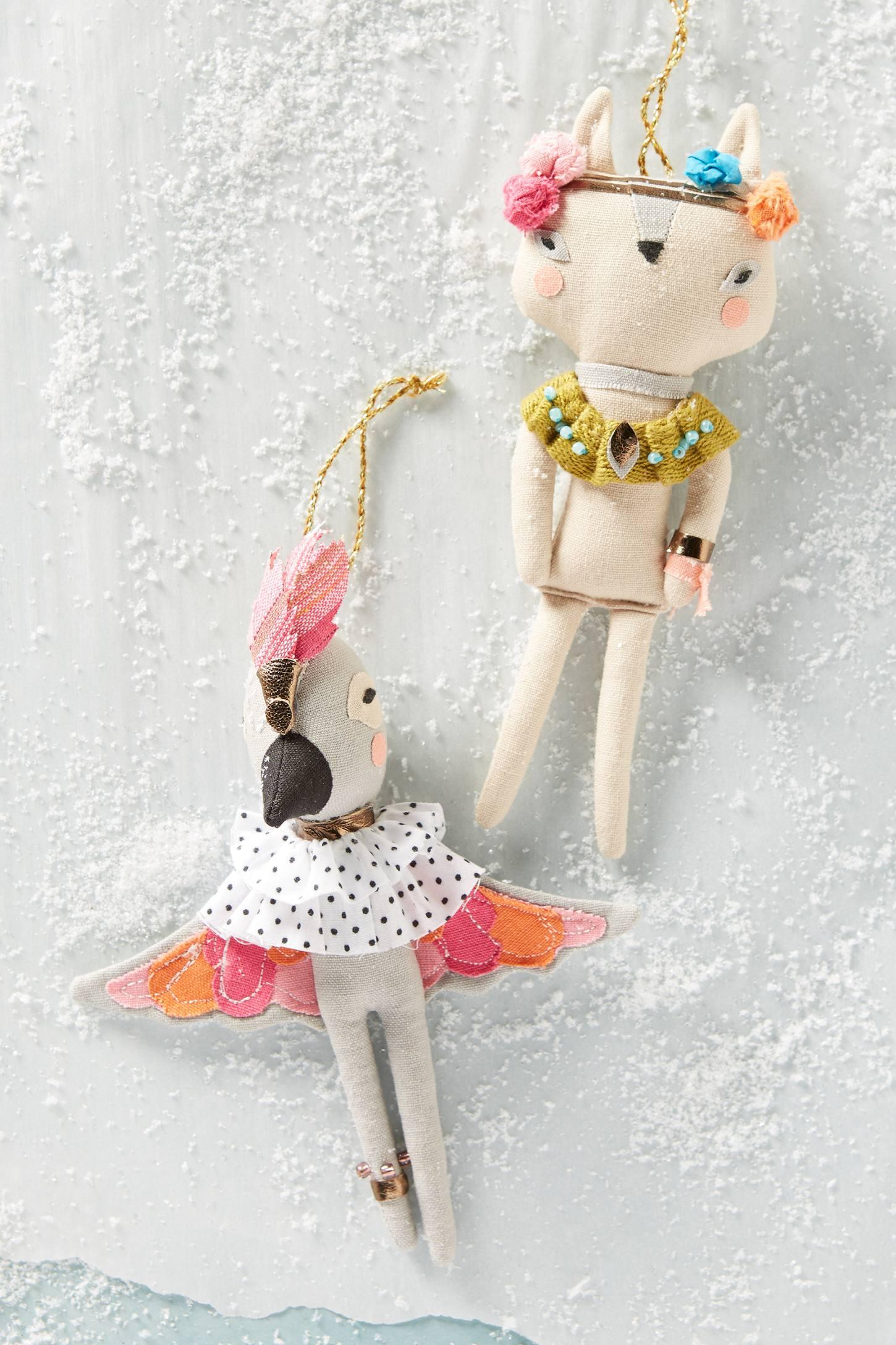 Fashionable Fauna Ornament
