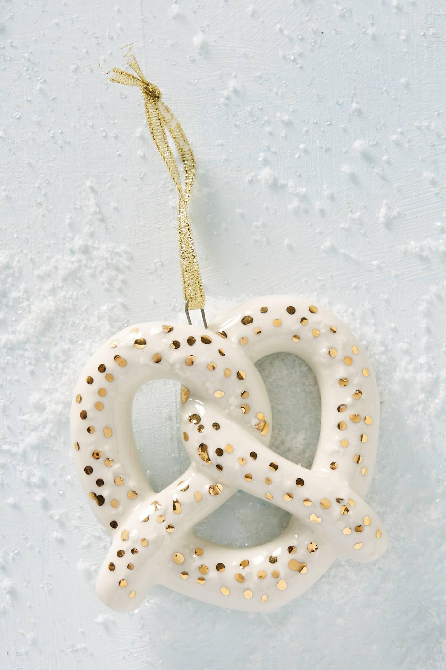 Ceramic Pretzel Ornament
