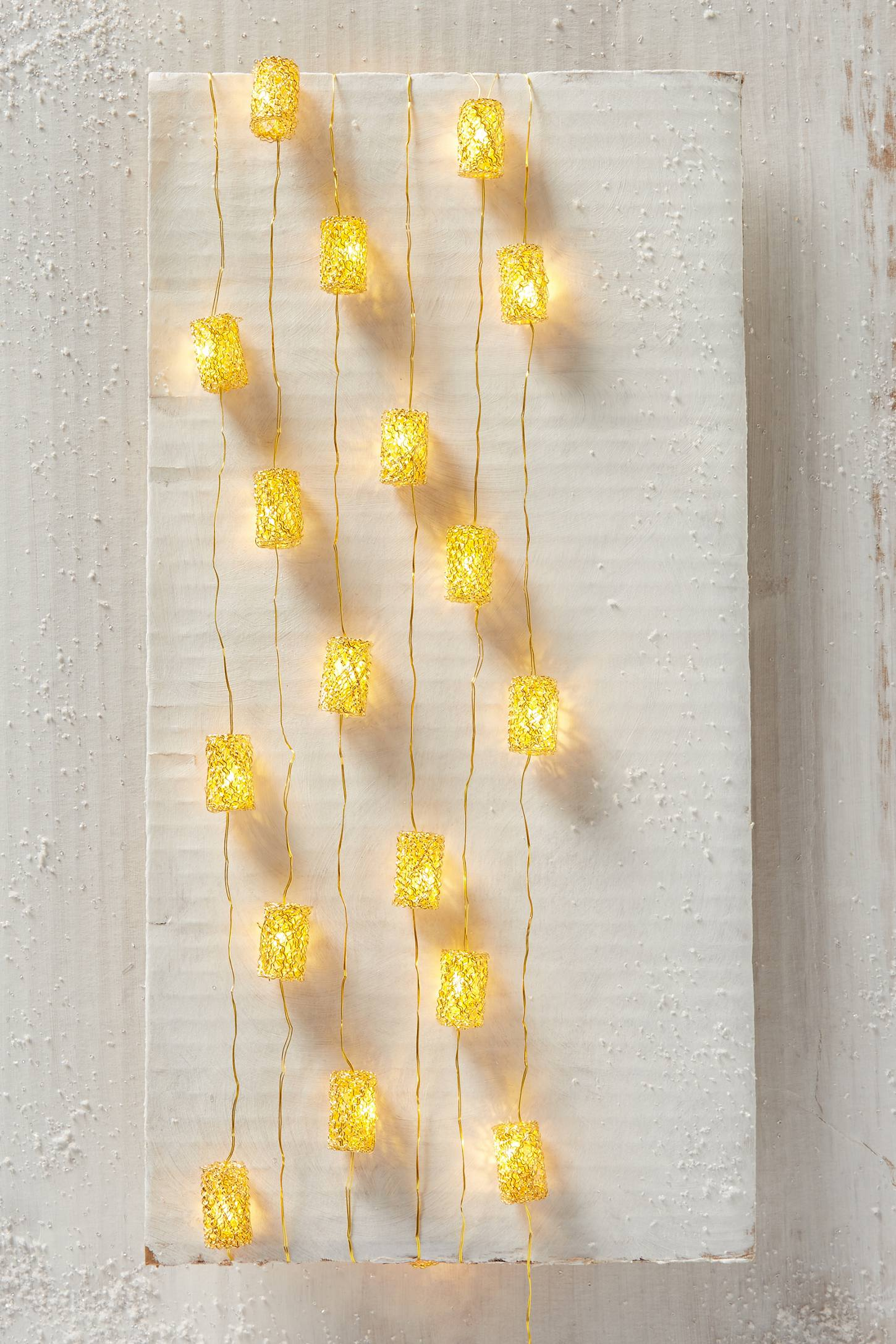 Beaded Gold String Lights