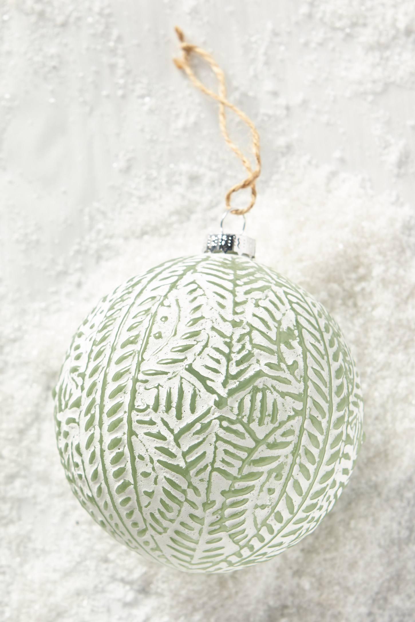 Leaf Imprint Ornament