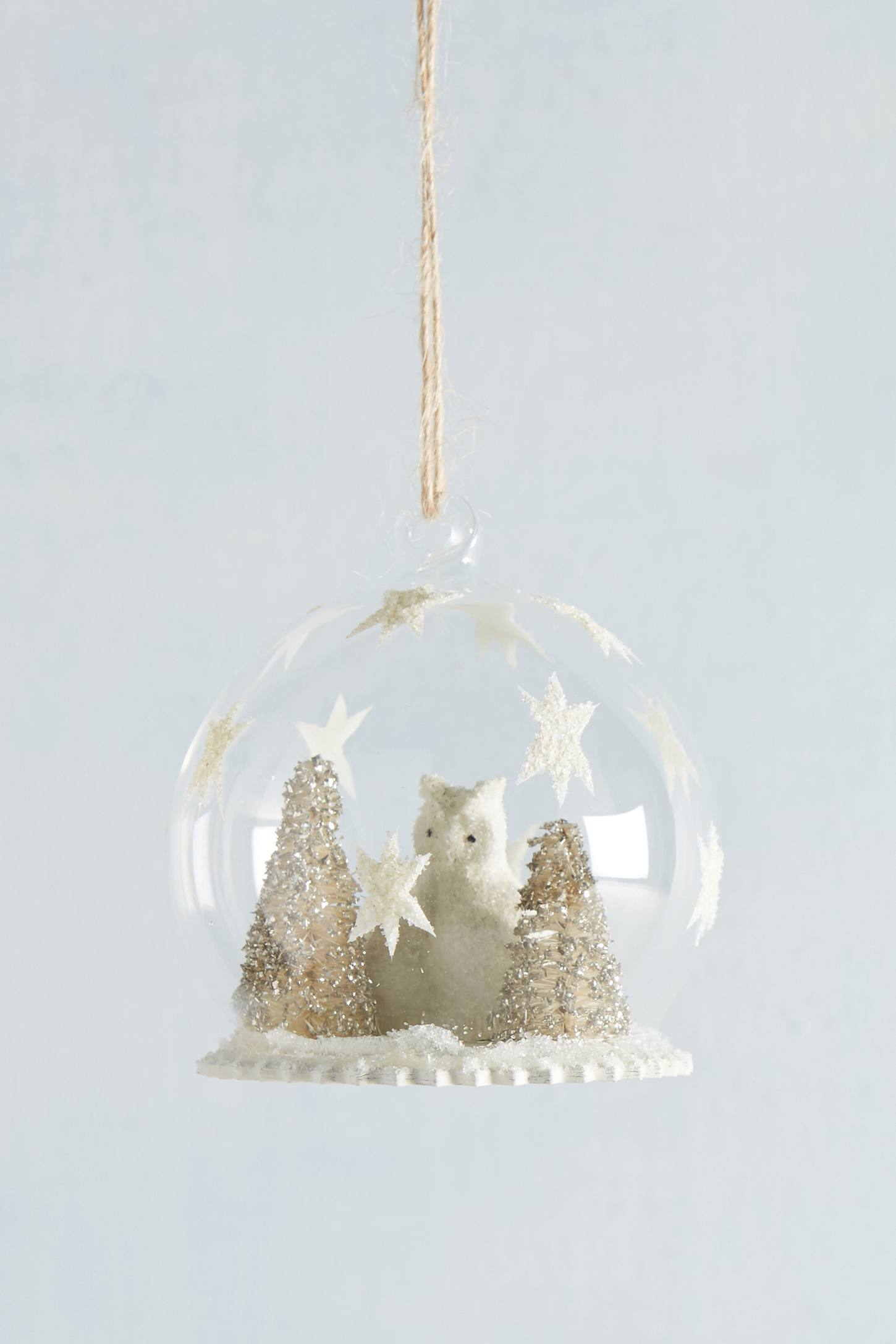 Owl's Forest Snowglobe Ornament