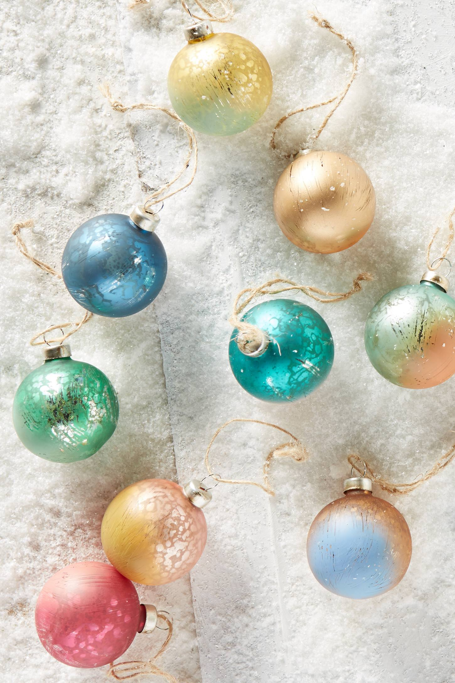 Dip-Dyed Ornaments