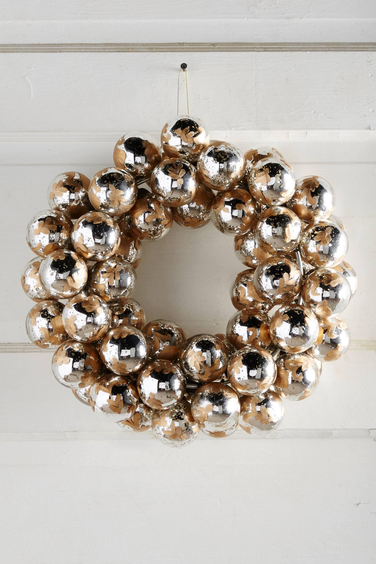 Etched Mercury Bulb Wreath