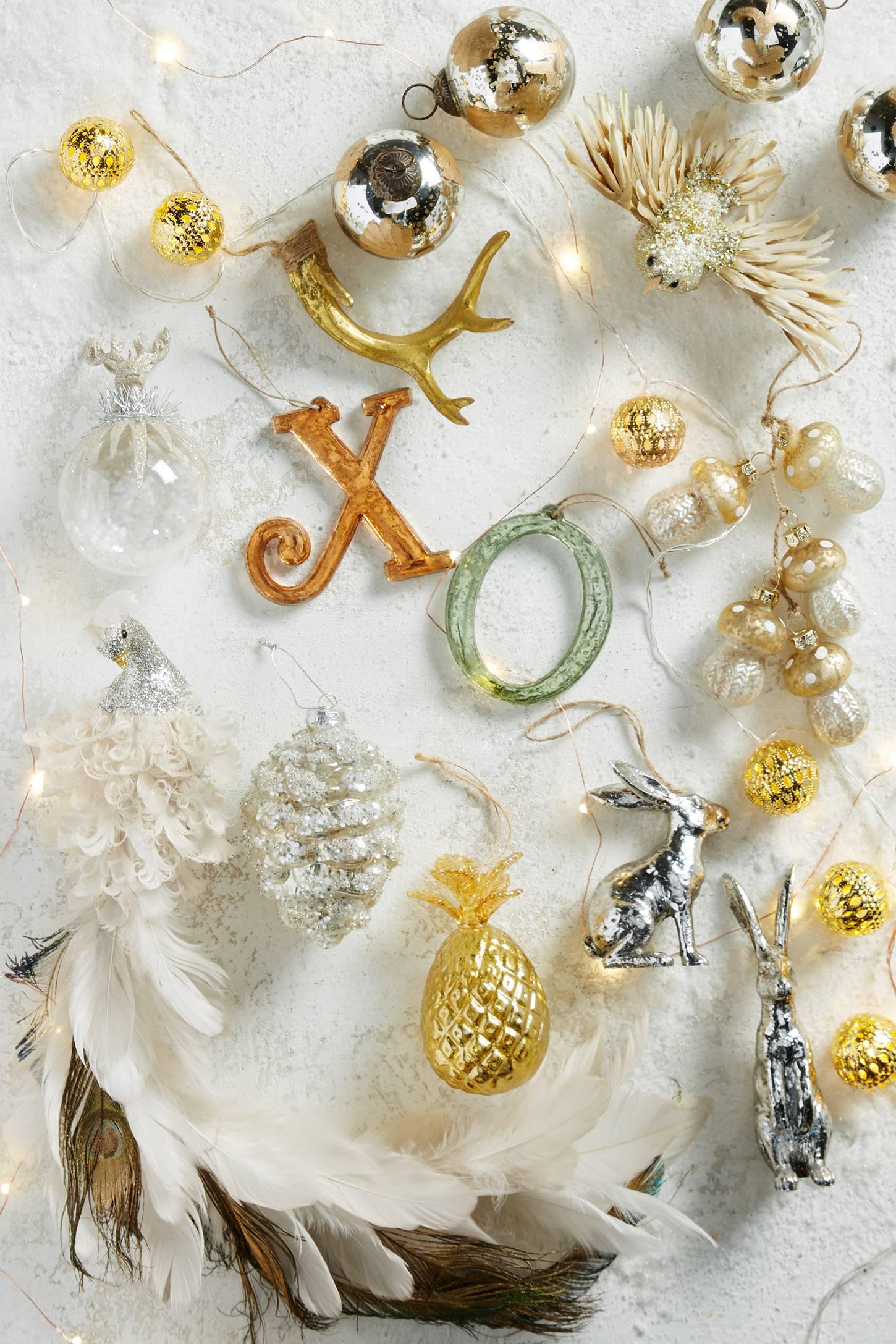 Glittering Mushroom Cluster Ornament