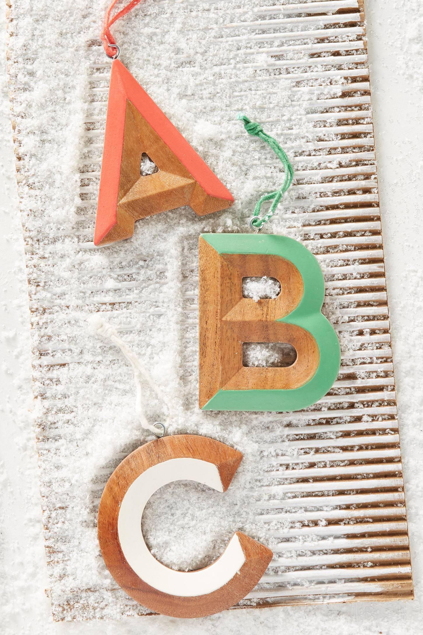 Woodshop Monogram Ornament