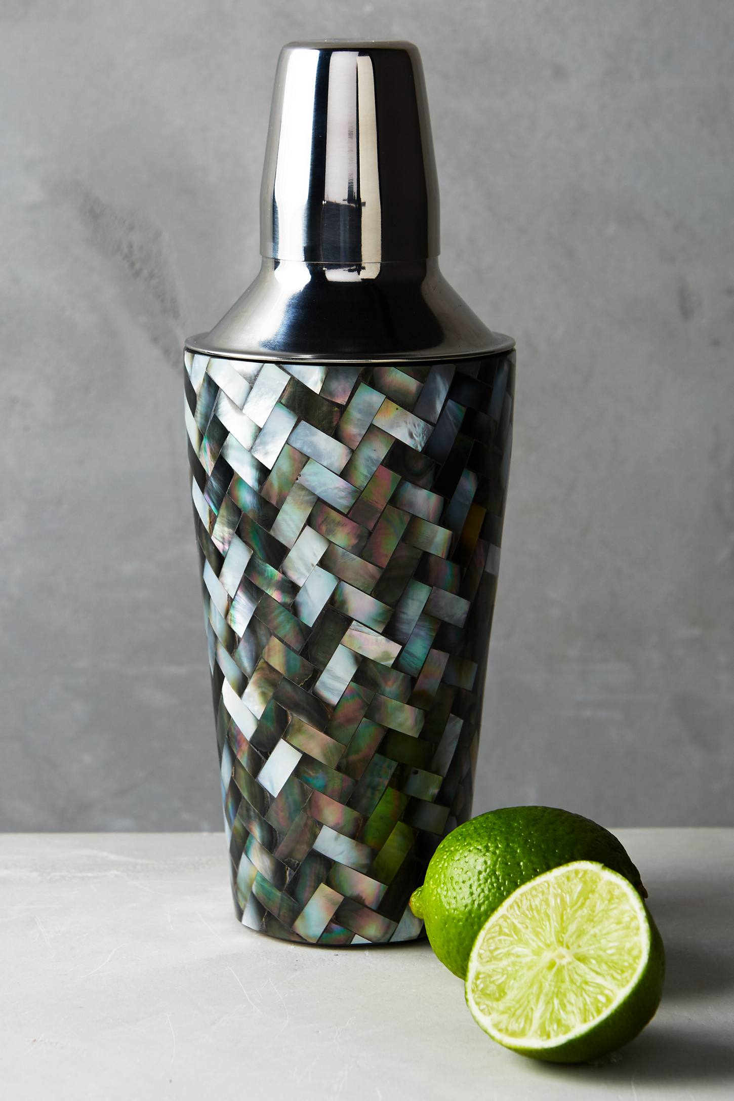Tiled Nacre Cocktail Shaker