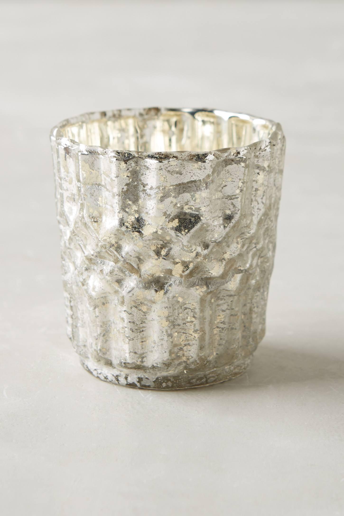 Bubbled Mercury Glass Votive