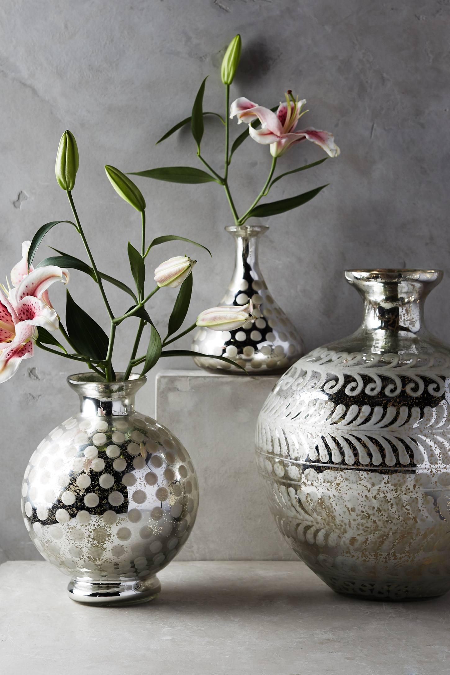 Frosted Mercury Vase