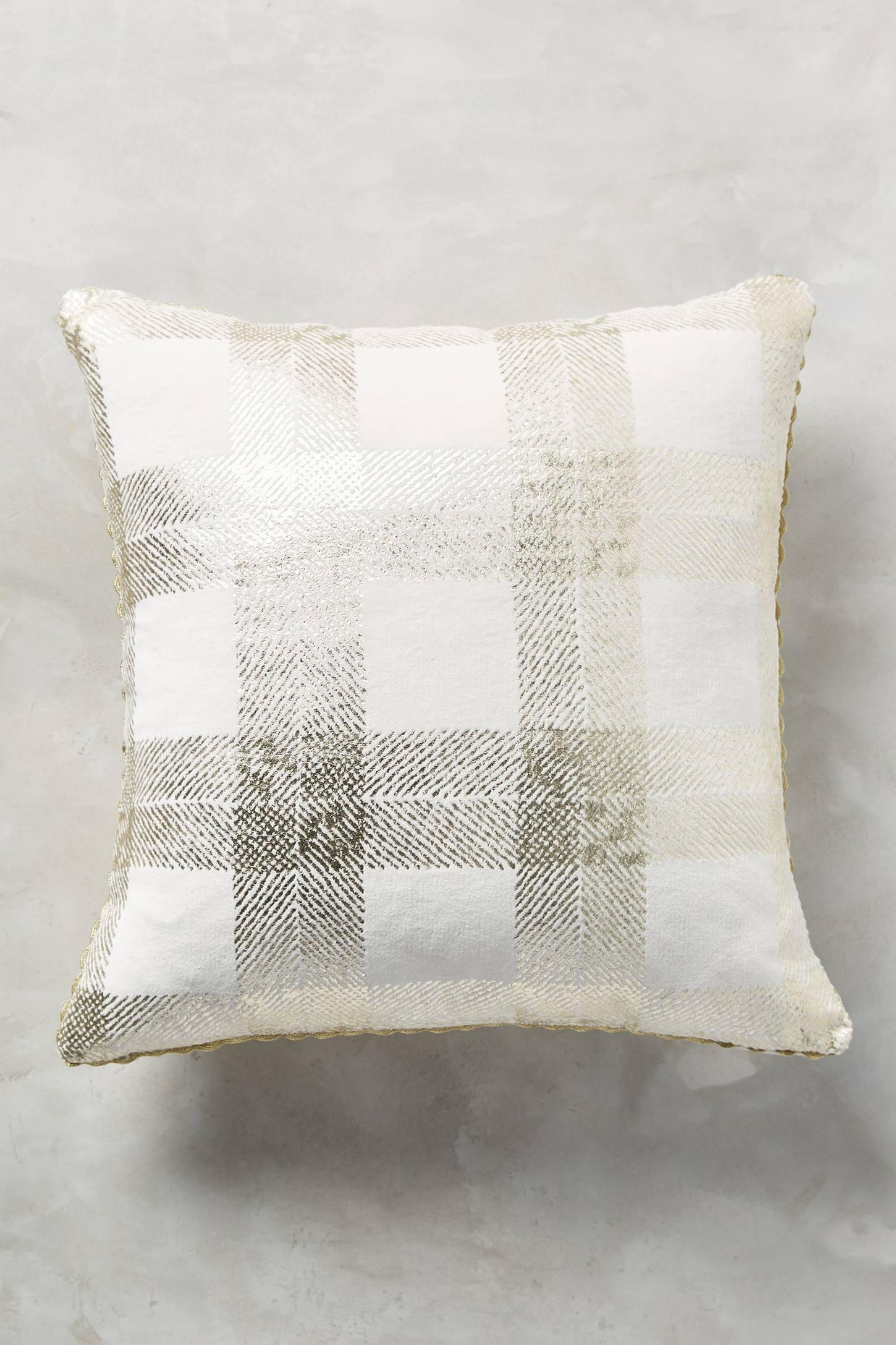 Golden Check Pillow
