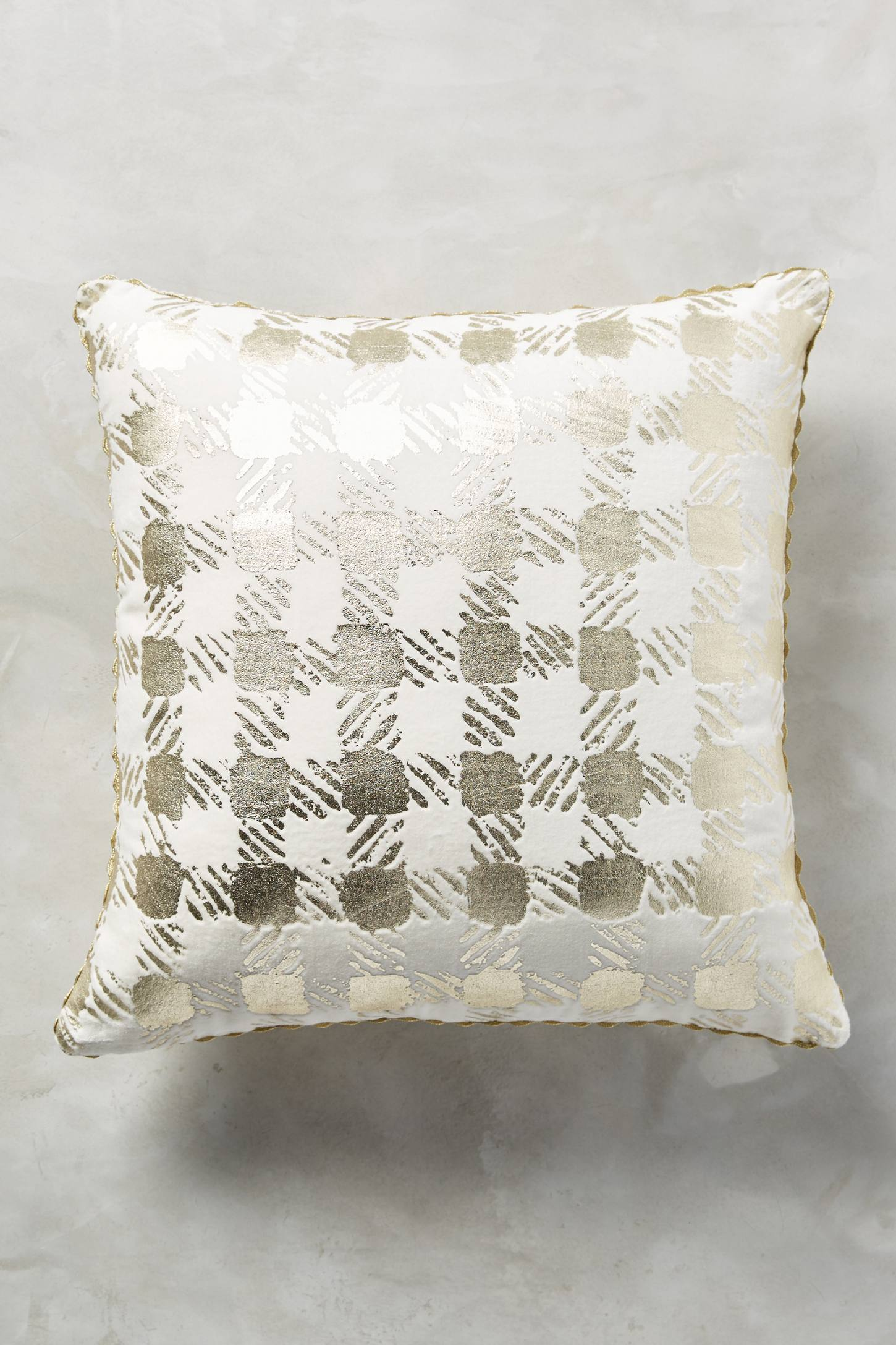 Golden Check Pillow