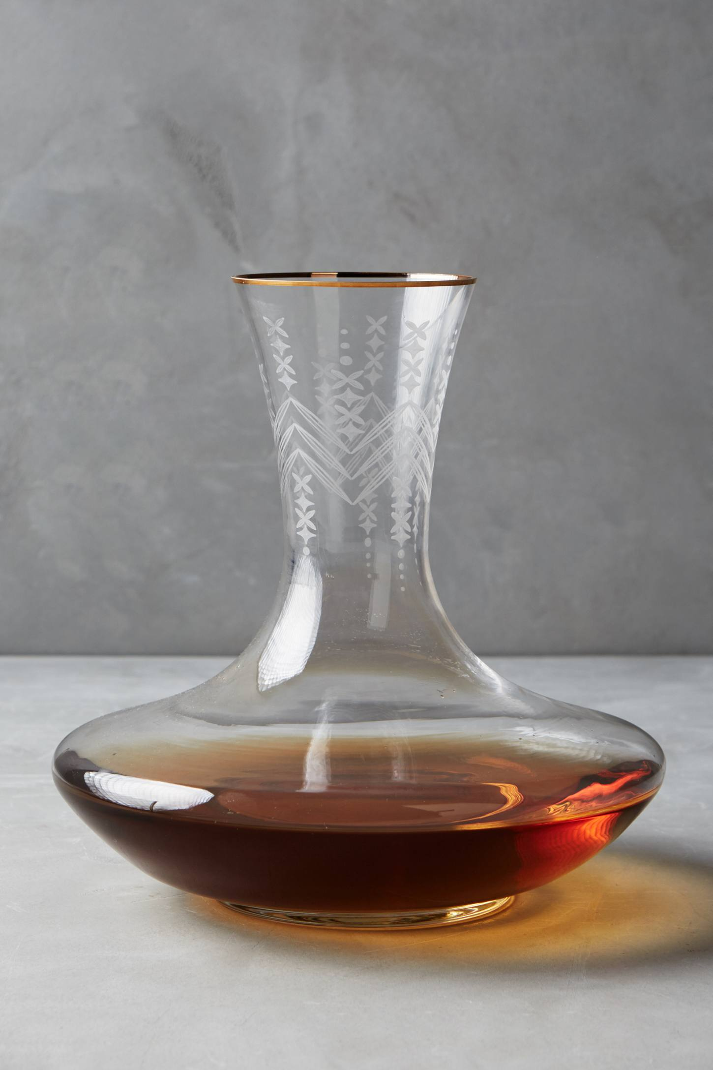 Gilt-Edged Decanter