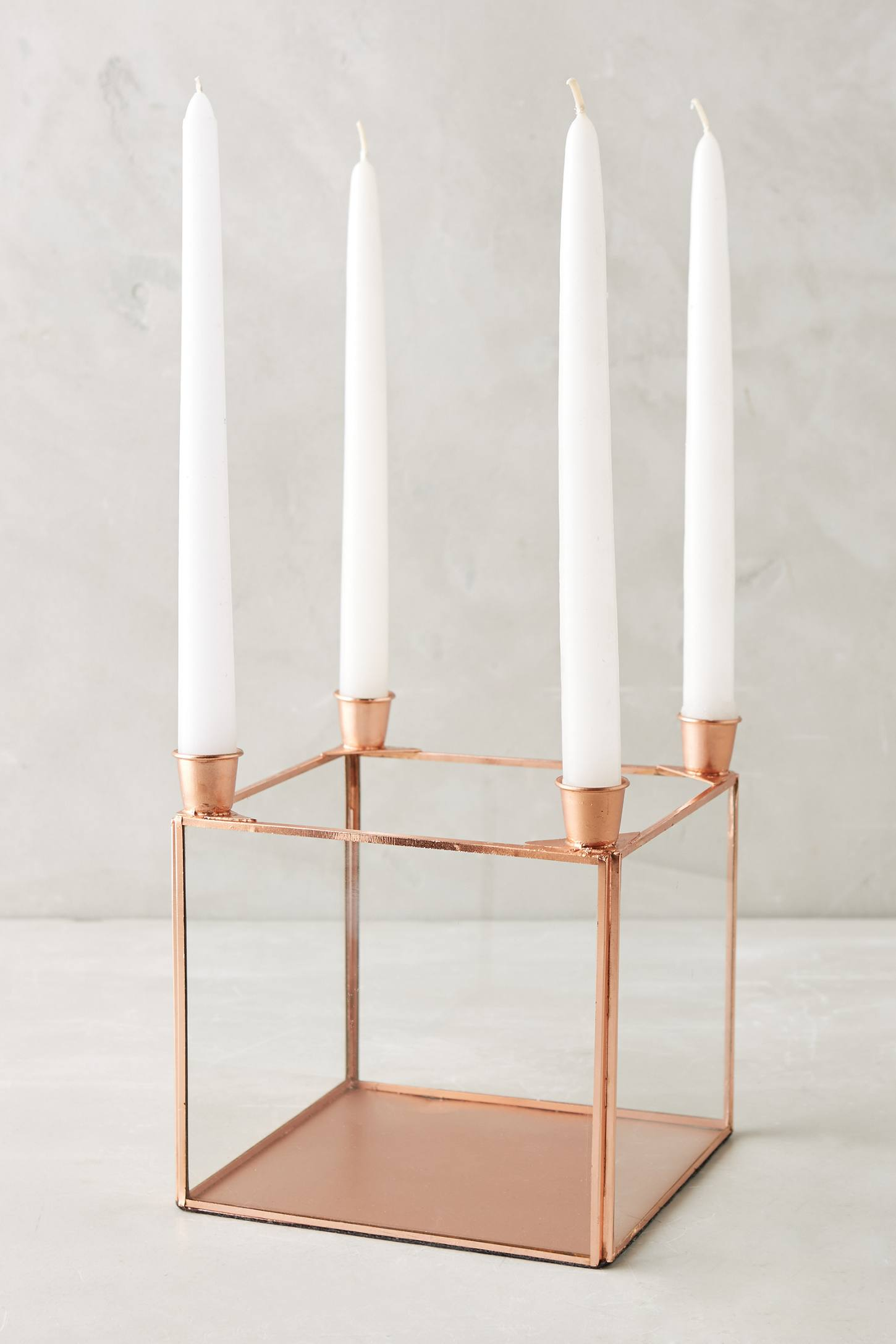 Copper Quadrille Candelabra