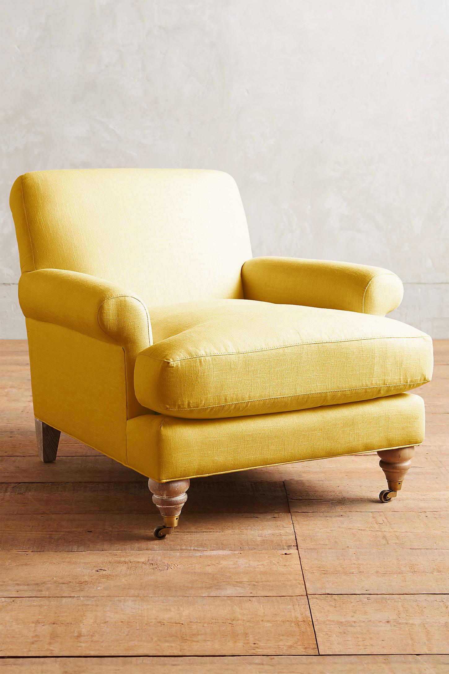 Linen Willoughby Chair, Wilcox