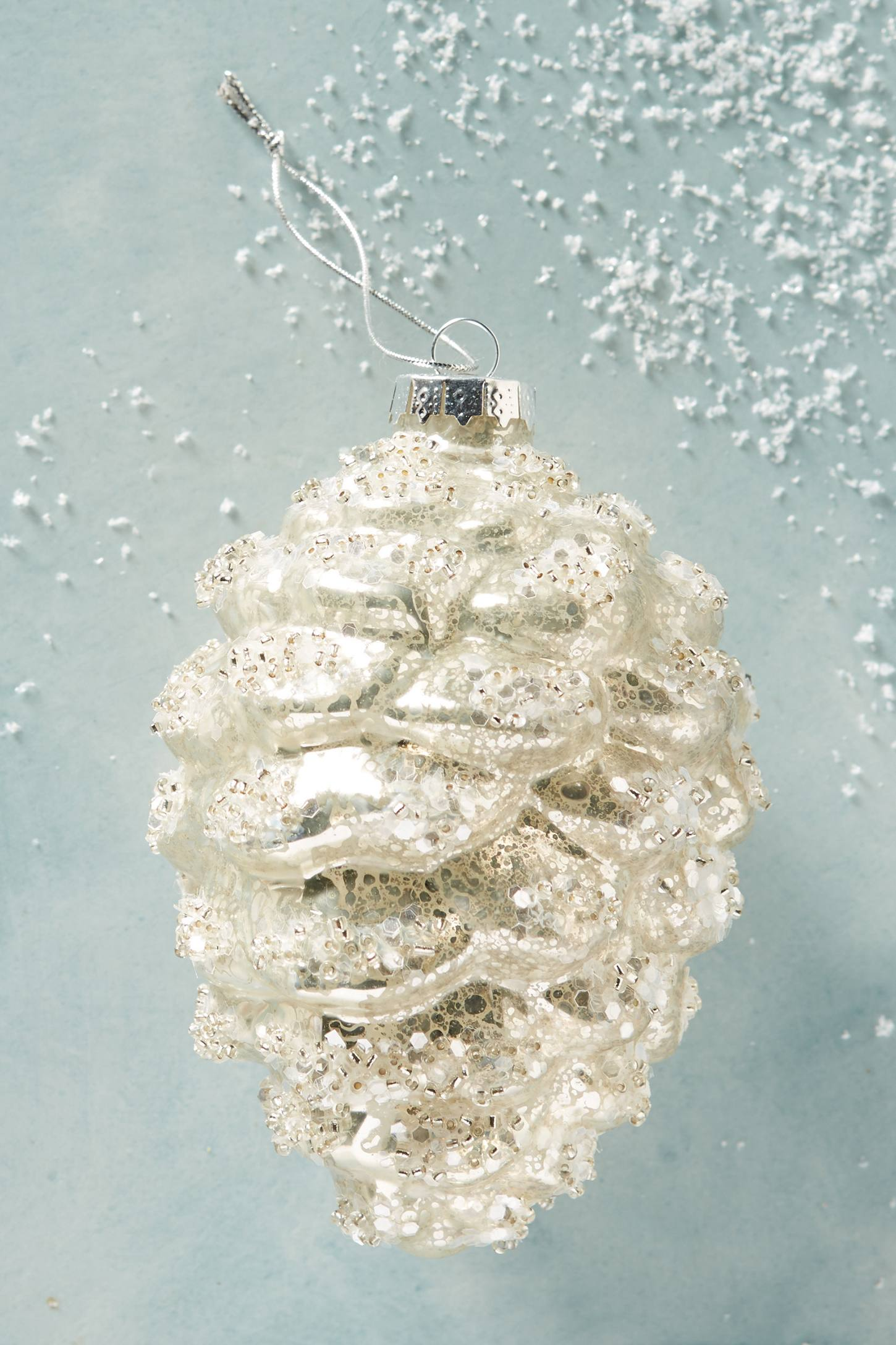 Snow-Covered Pinecone Ornament
